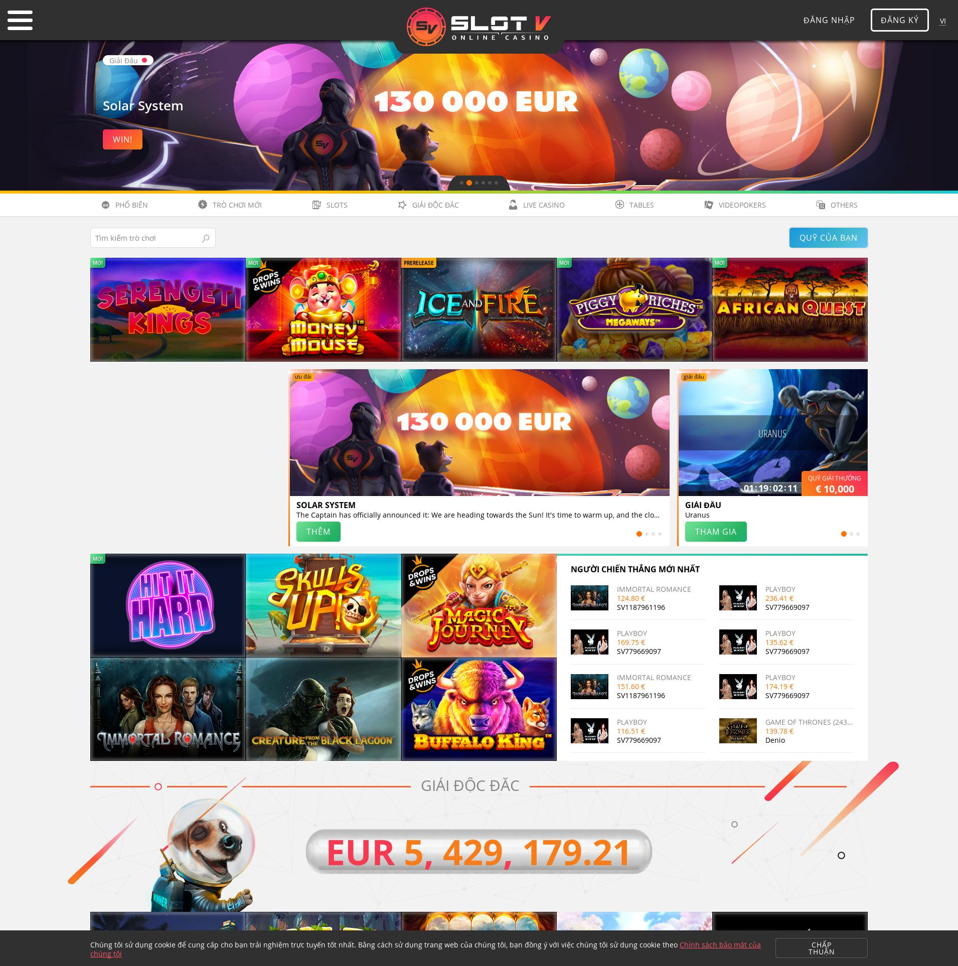 Màn hình Casino Lobby 2020-01-27 cho Việt Nam