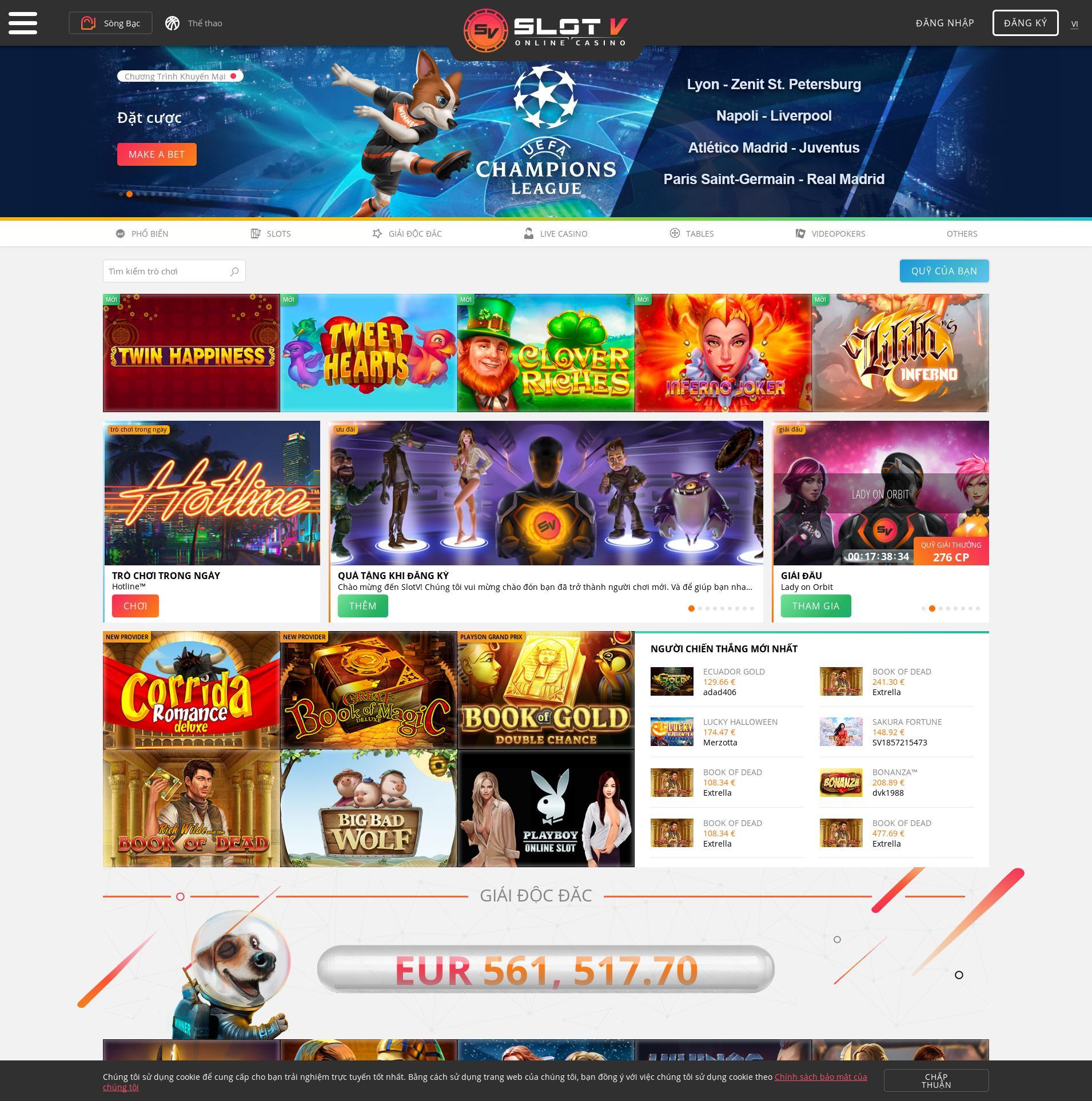 Màn hình Casino Lobby 2019-09-19 cho Việt Nam