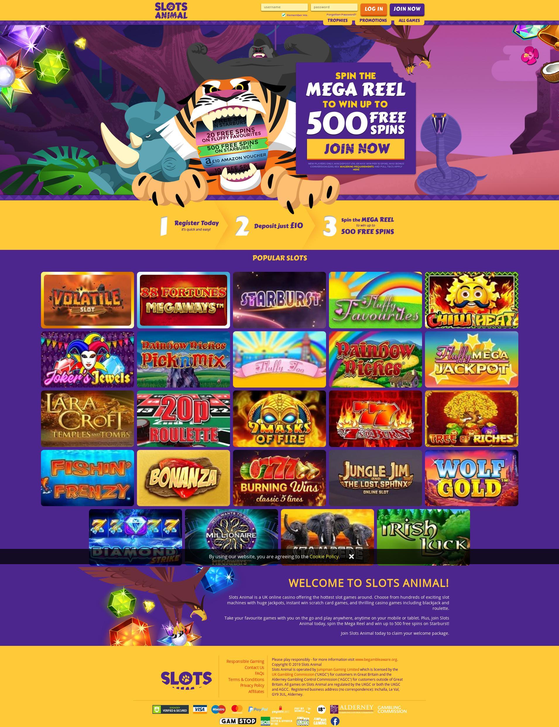 Casino screen Lobby 2019-11-16 for United Kingdom