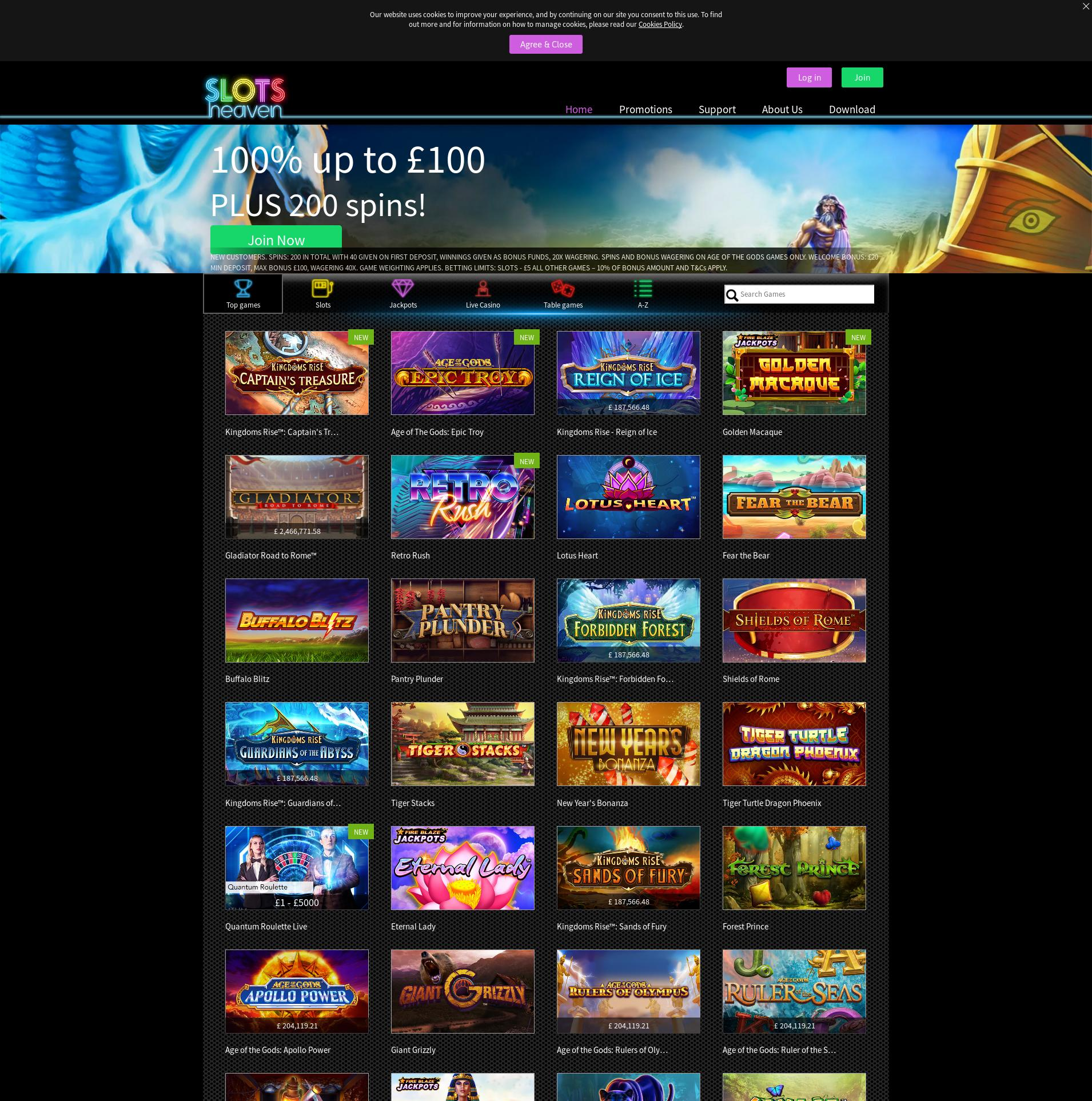 Casino screen Lobby 2020-02-16 for United Kingdom