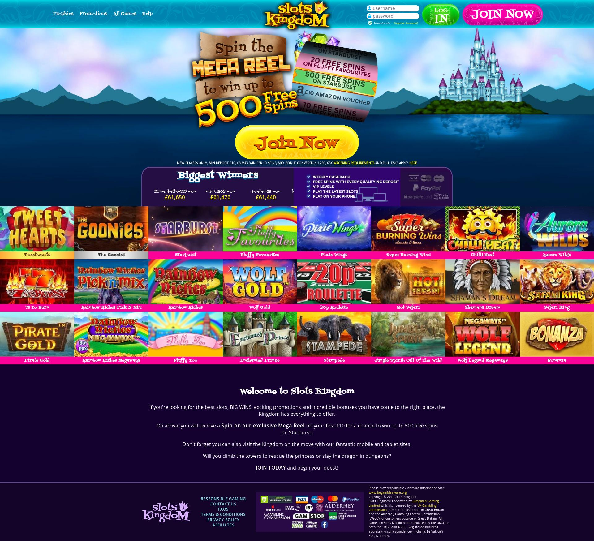 Casino screen Lobby 2019-09-20 for United Kingdom