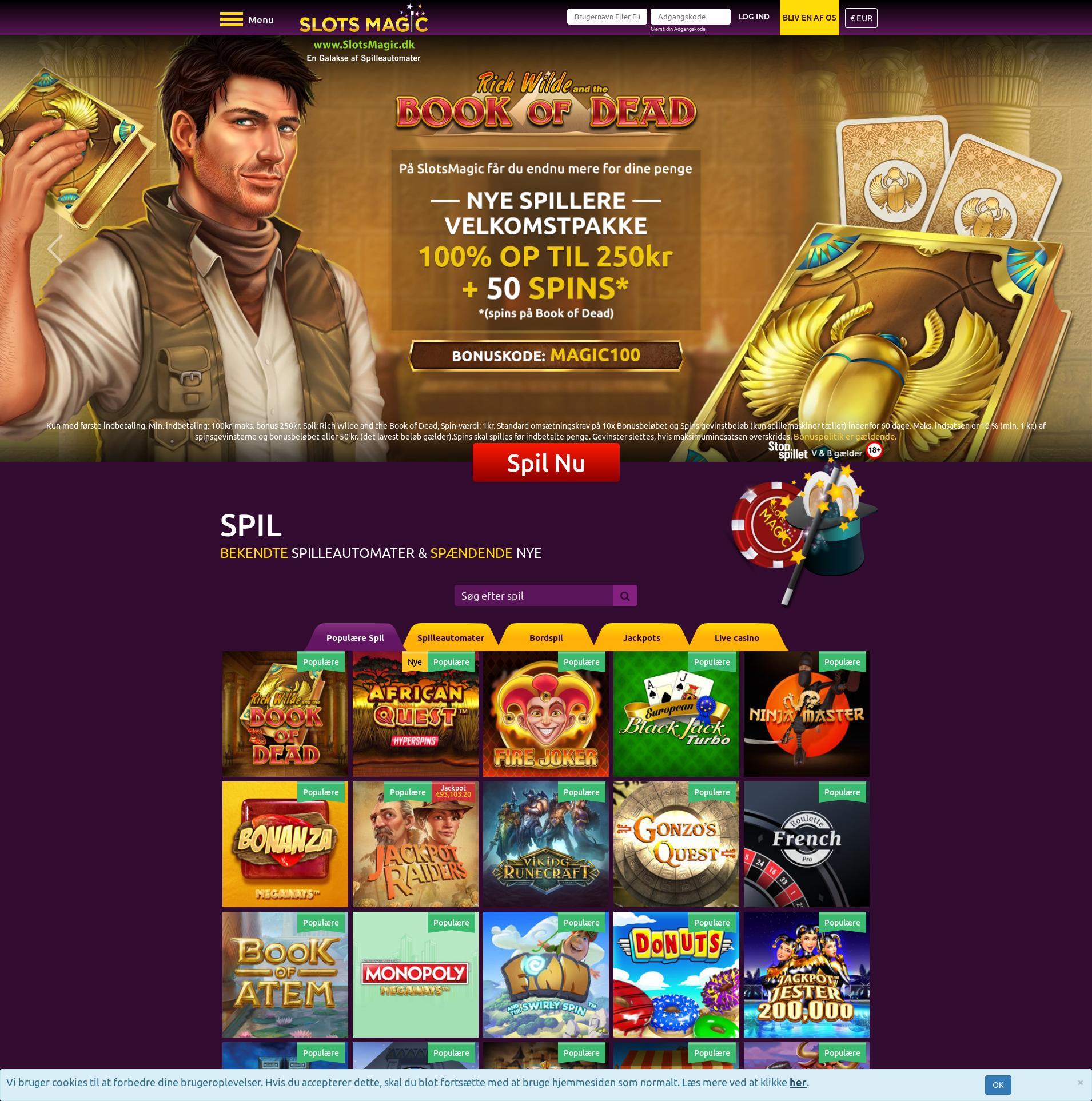 Casino screen Lobby 2020-01-28 for United Kingdom
