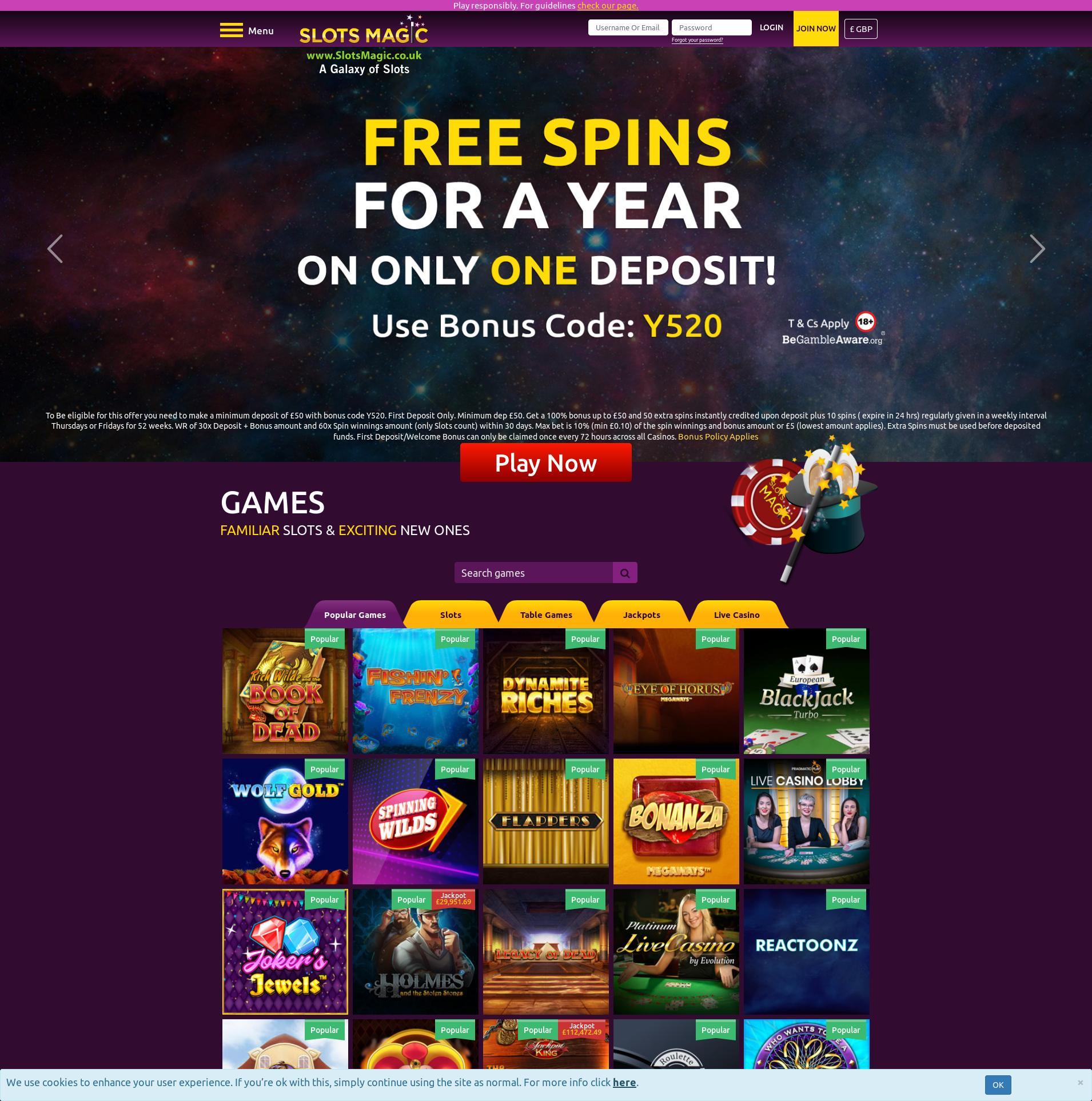 Casino skærm Lobby 2020-05-28 til Det Forenede Kongerige