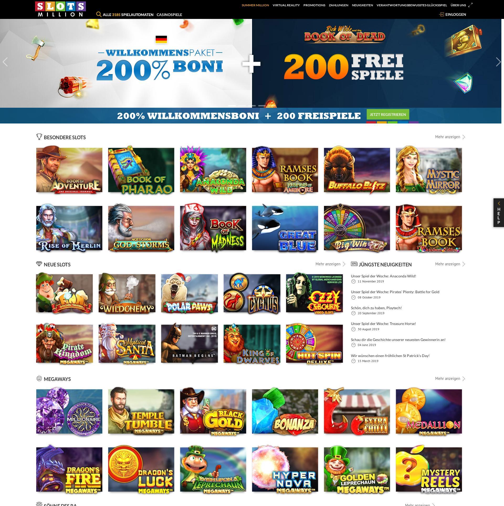 Casino Bildschirm Lobby 2019-12-05 zum Deutschland