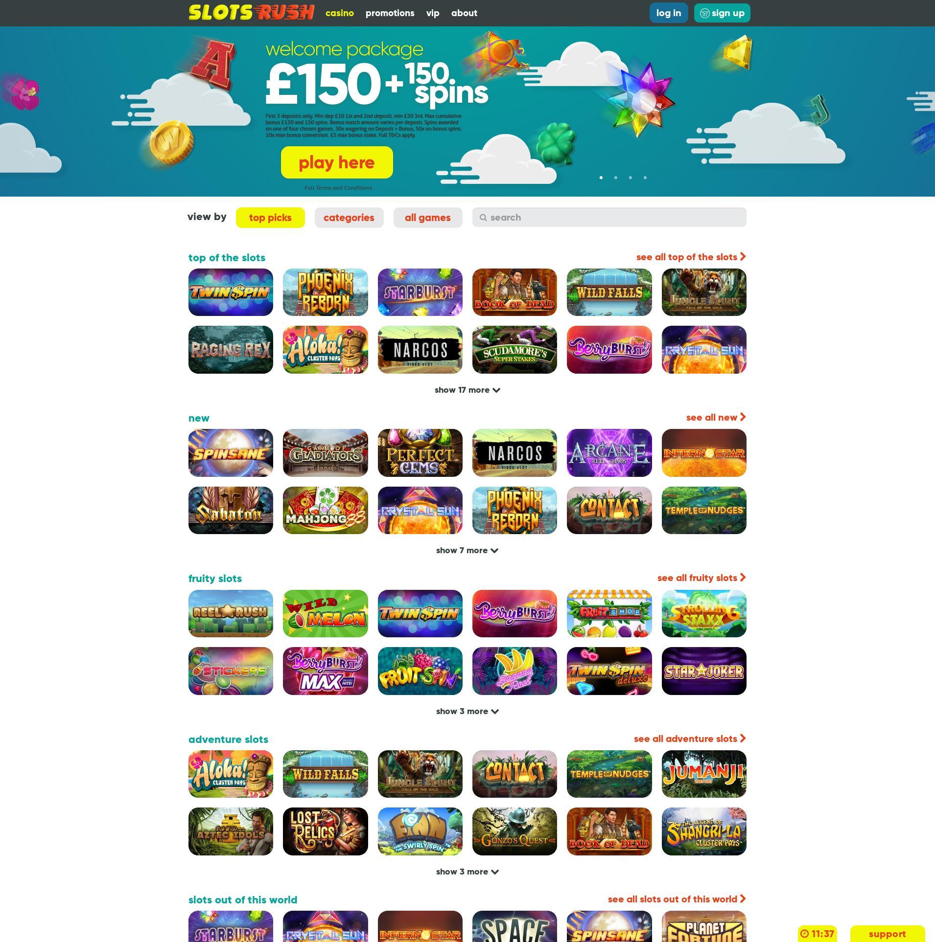 Casino screen Lobby 2019-06-18 for United Kingdom