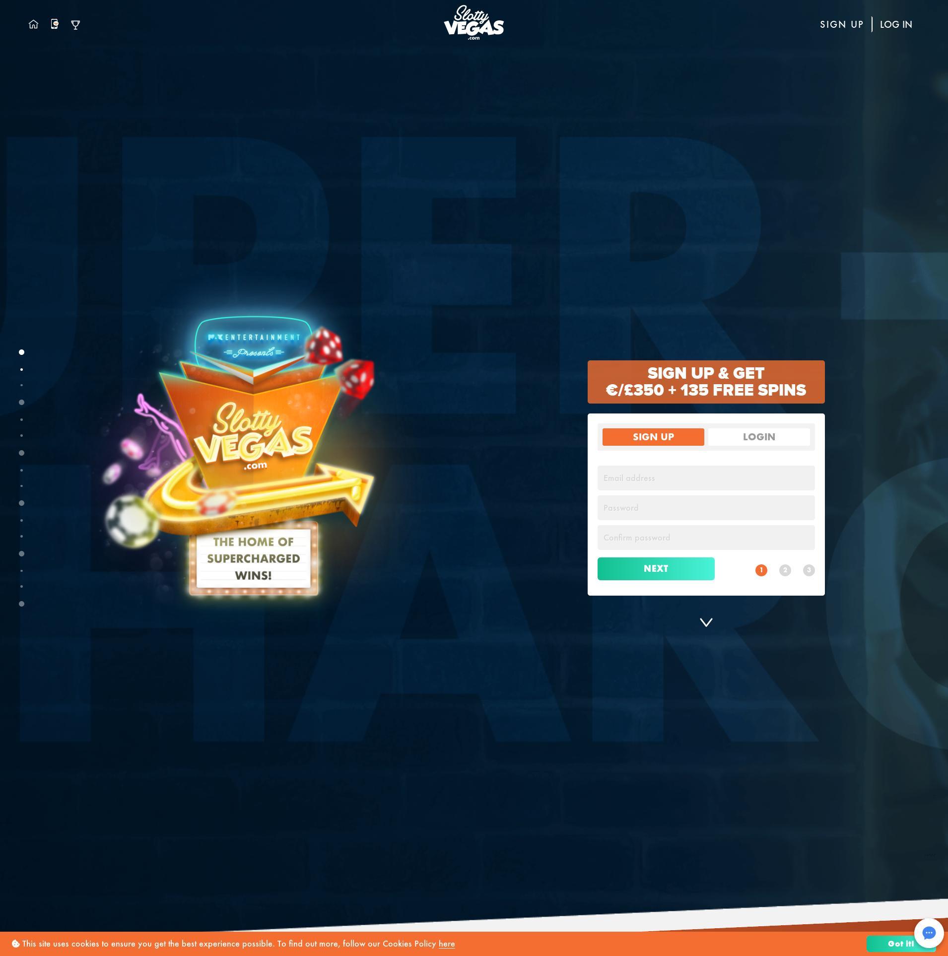 Casino scherm Lobby 2019-08-18 voor Nederland