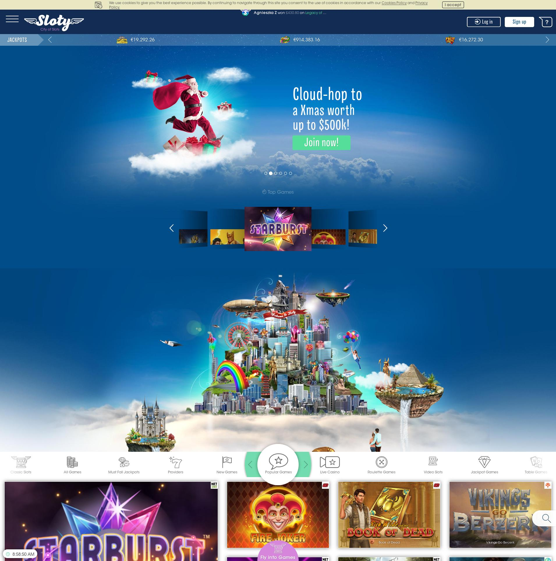 Casino screen Lobby 2019-12-10 for United Kingdom