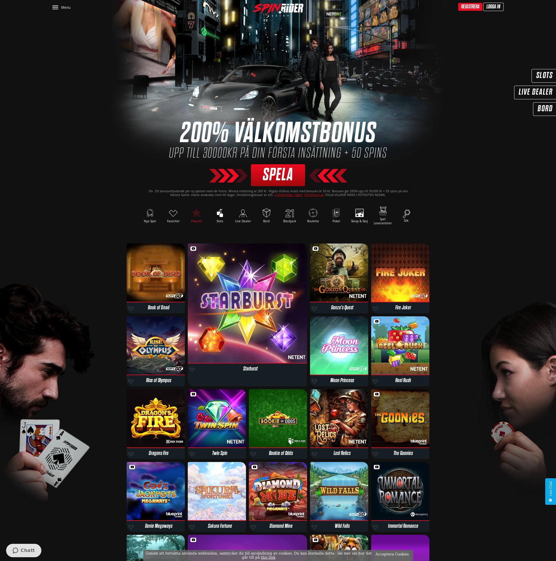 Casino screen Lobby 2019-08-19 for Sweden