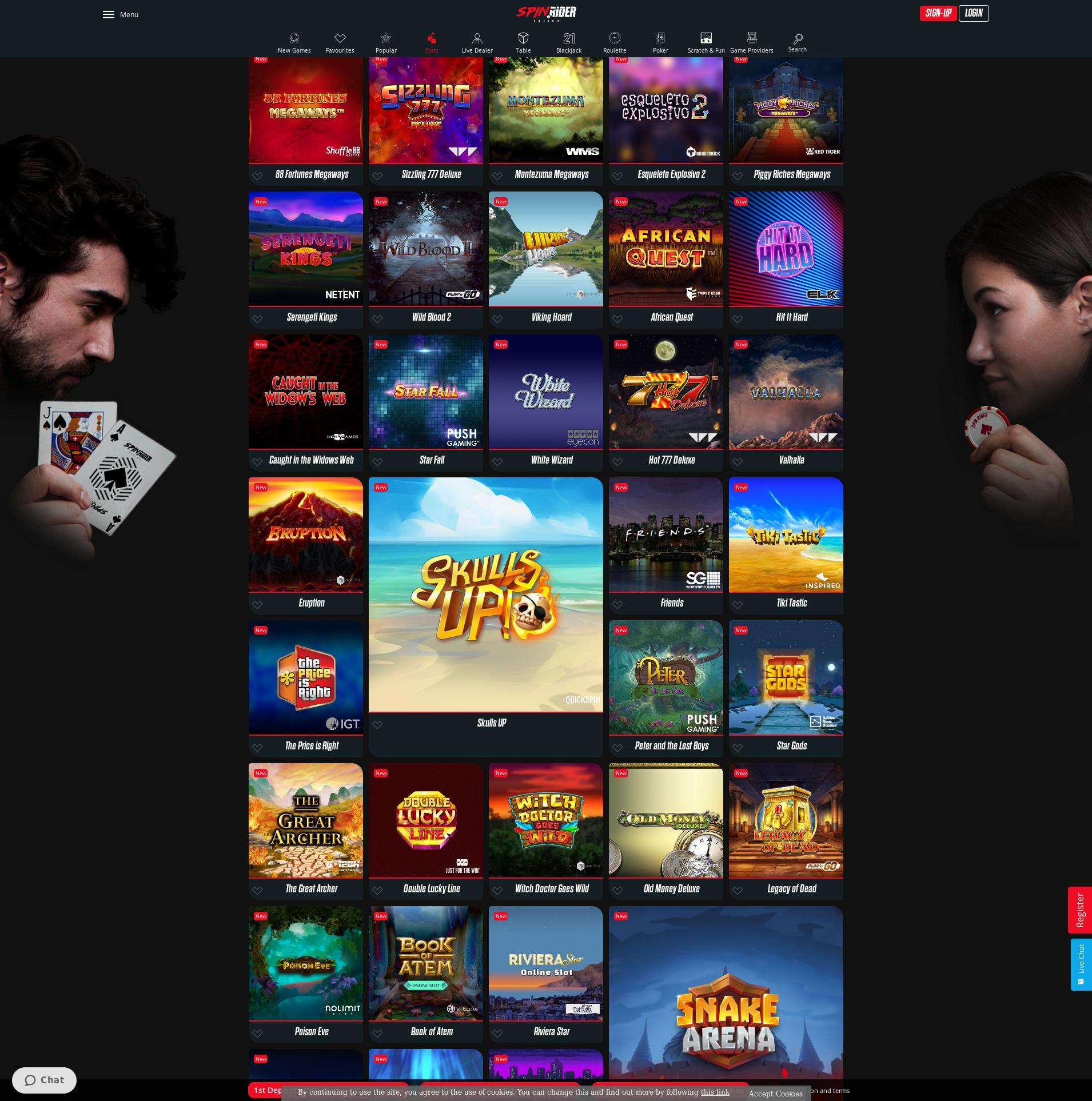 Casino screen Lobby 2020-01-26 for Germany