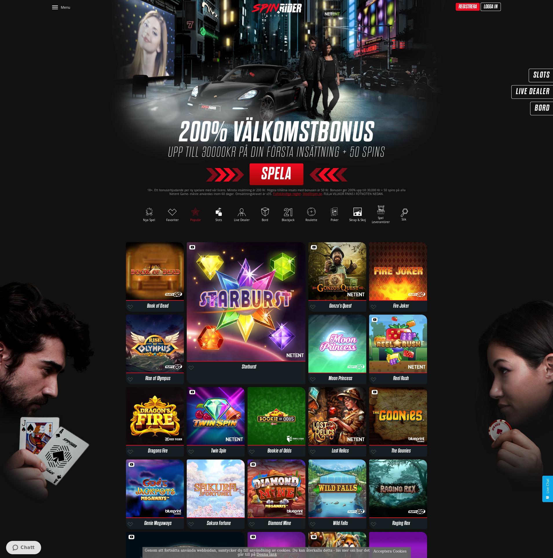 Casino screen Lobby 2020-01-28 for Sweden