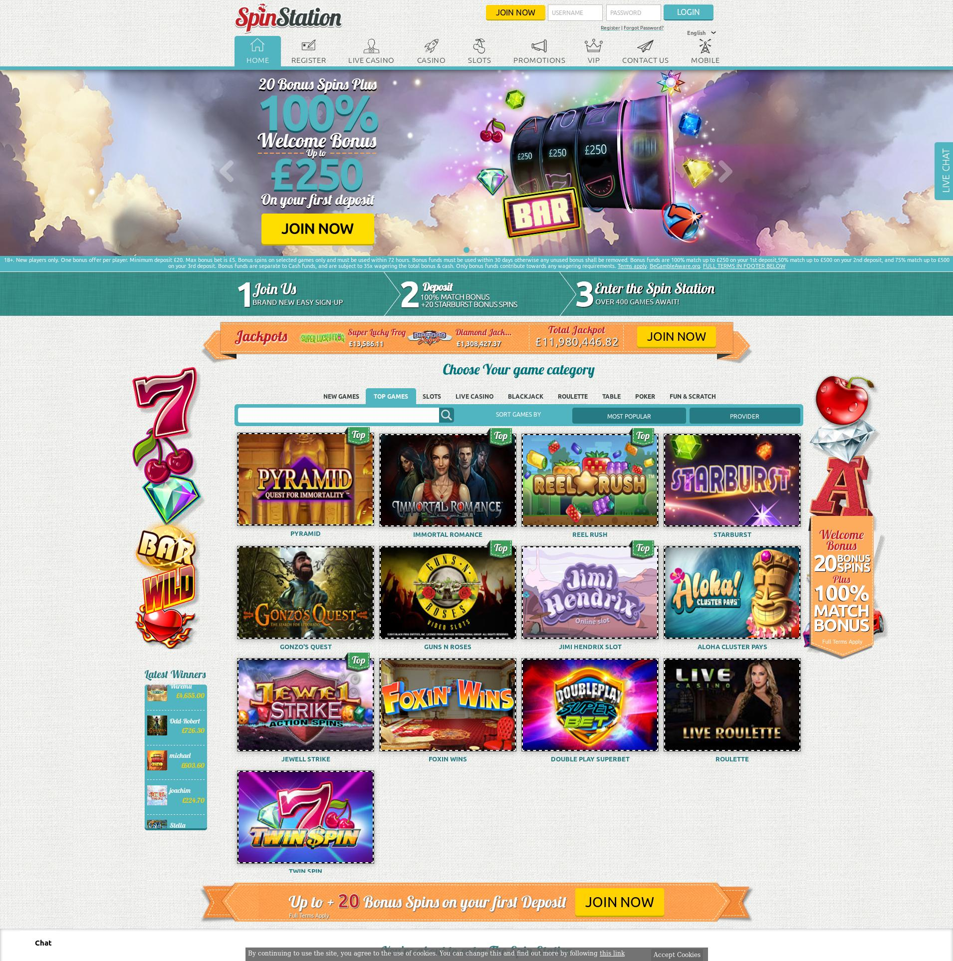 Casino screen Lobby 2019-06-24 for United Kingdom