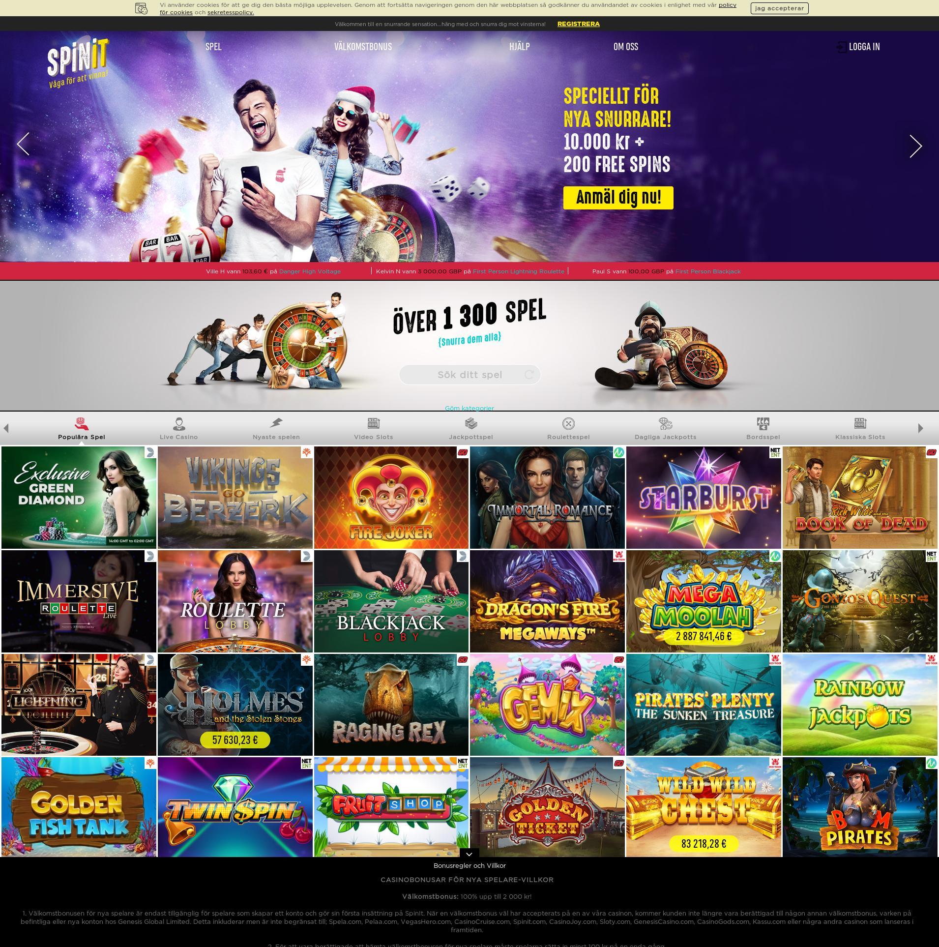 Casino skärm Lobby 2019-12-11 för Sverige
