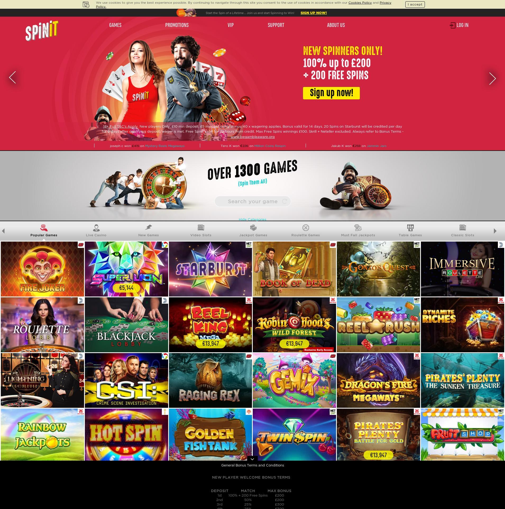 Casino screen Lobby 2020-03-30 for United Kingdom