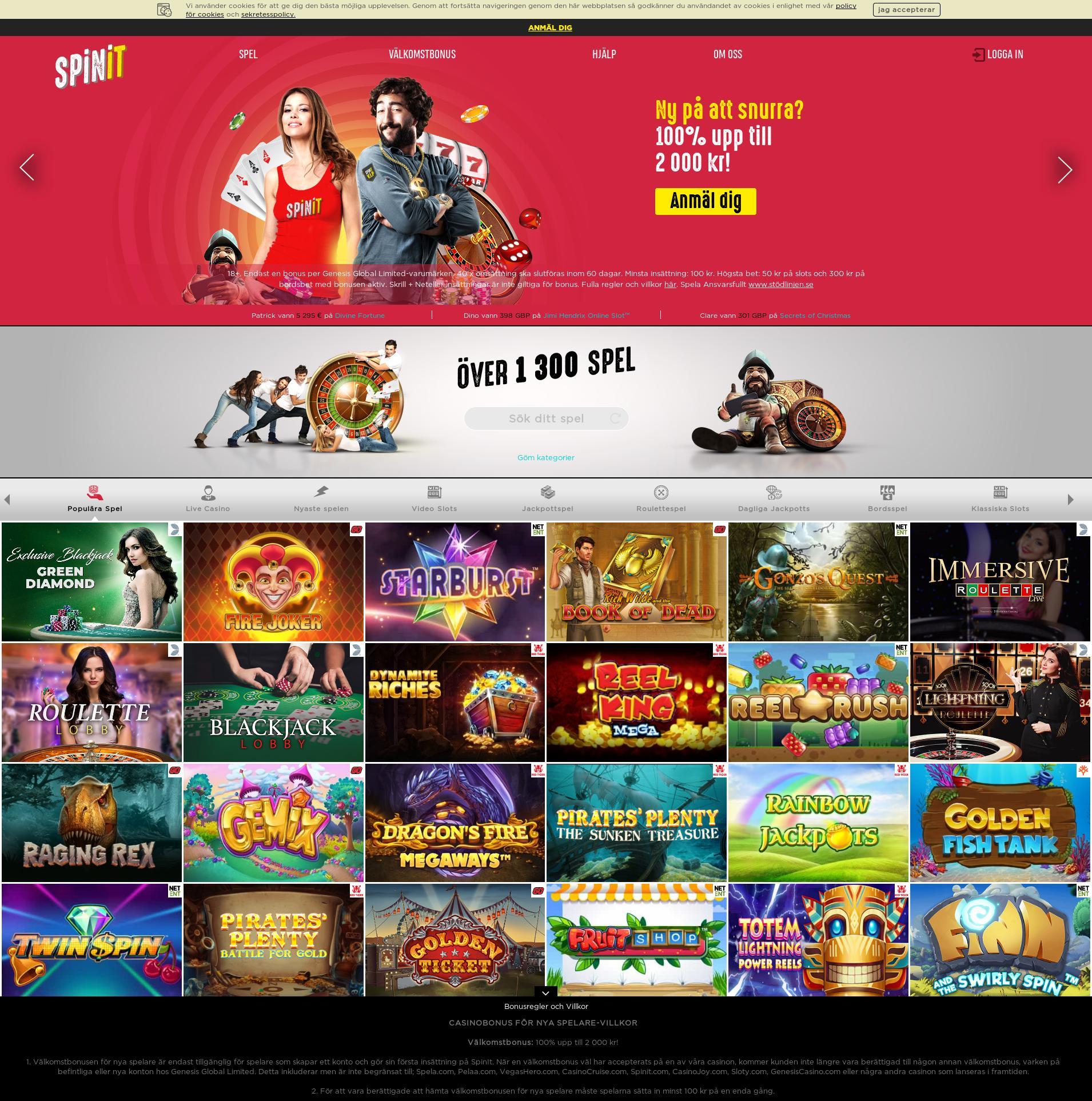 Casino screen Lobby 2020-05-31 for Sweden