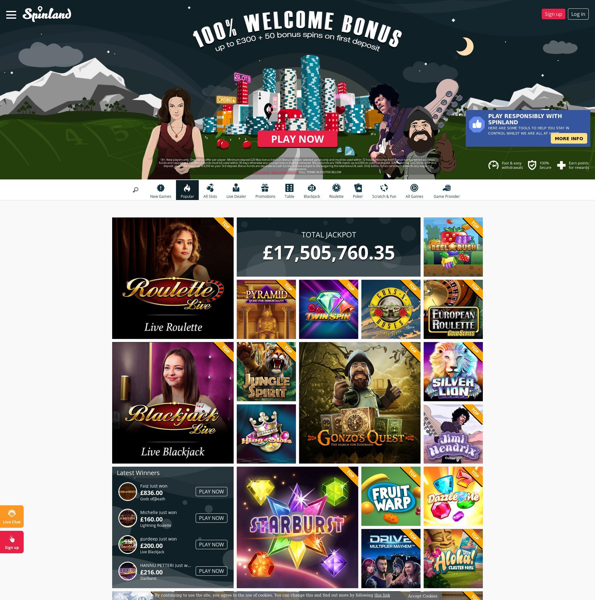 Casino screen Lobby 2020-05-26 for United Kingdom