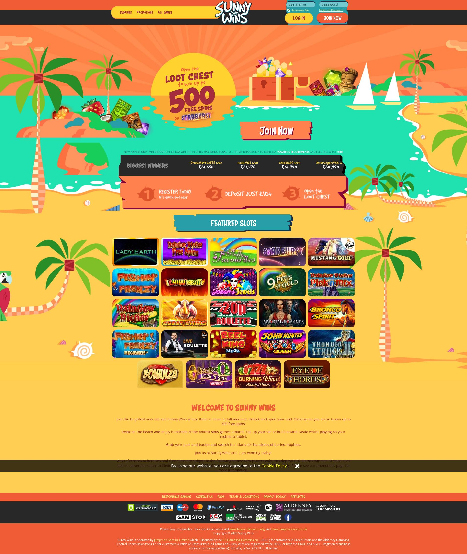 Casino screen Lobby 2020-06-05 for United Kingdom
