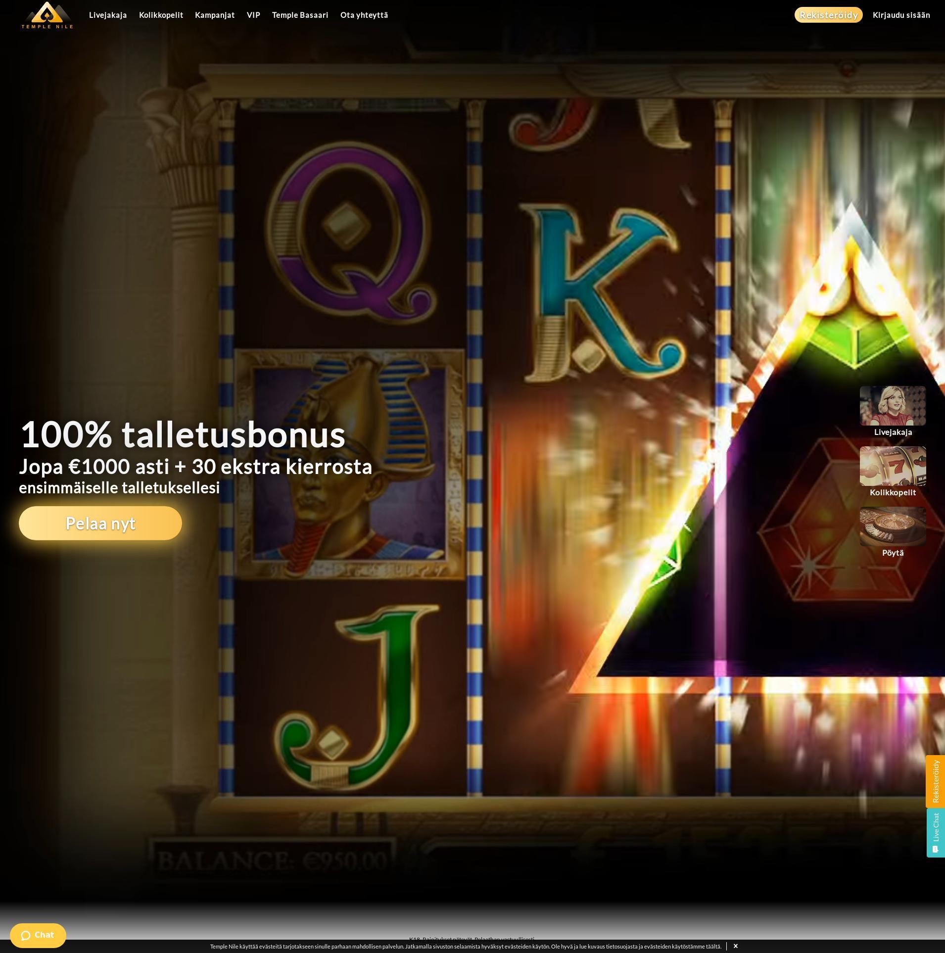 Casino screen Lobby 2019-06-15 for Finland