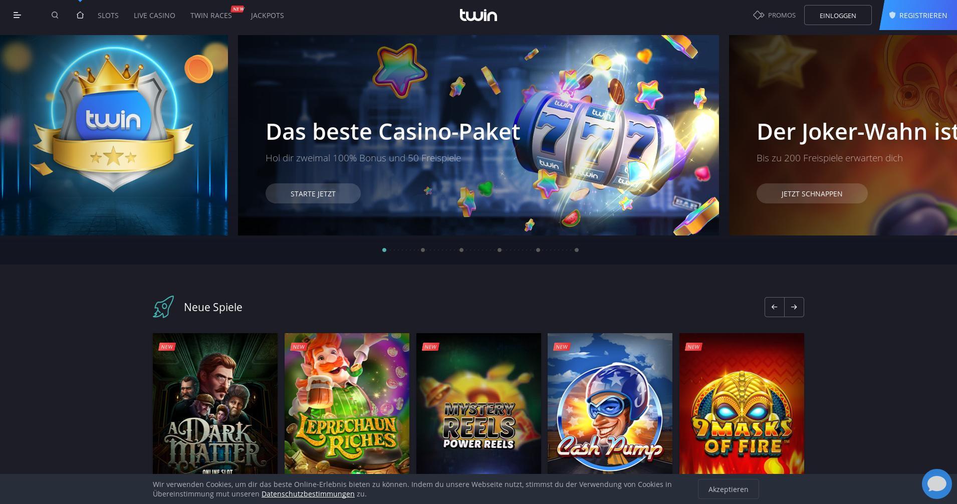 Casino Bildschirm Lobby 2019-10-23 zum Deutschland