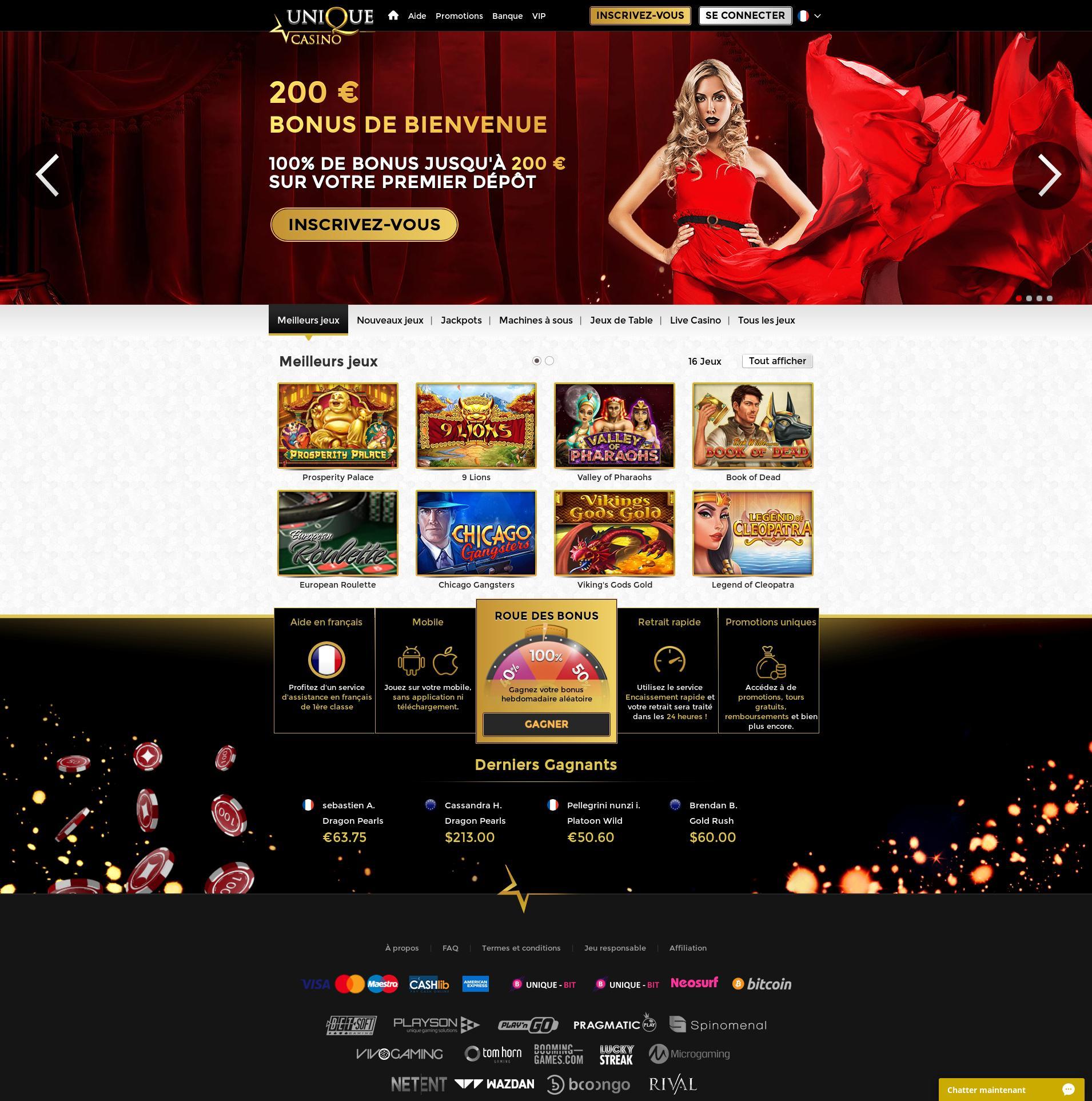 Casino skärm Lobby 2019-07-16 för frankrike