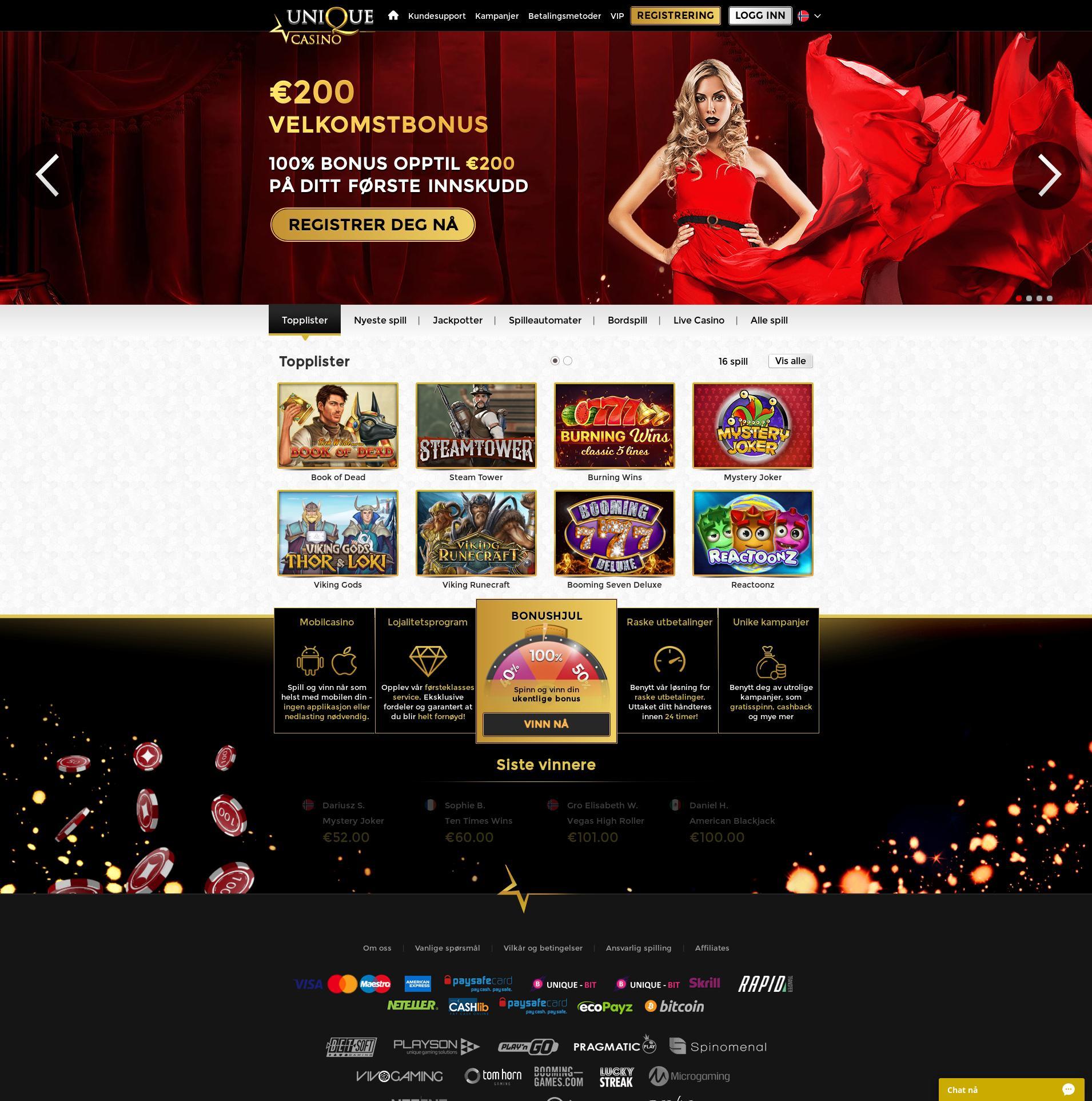 Casino skärm Lobby 2019-07-16 för Norge