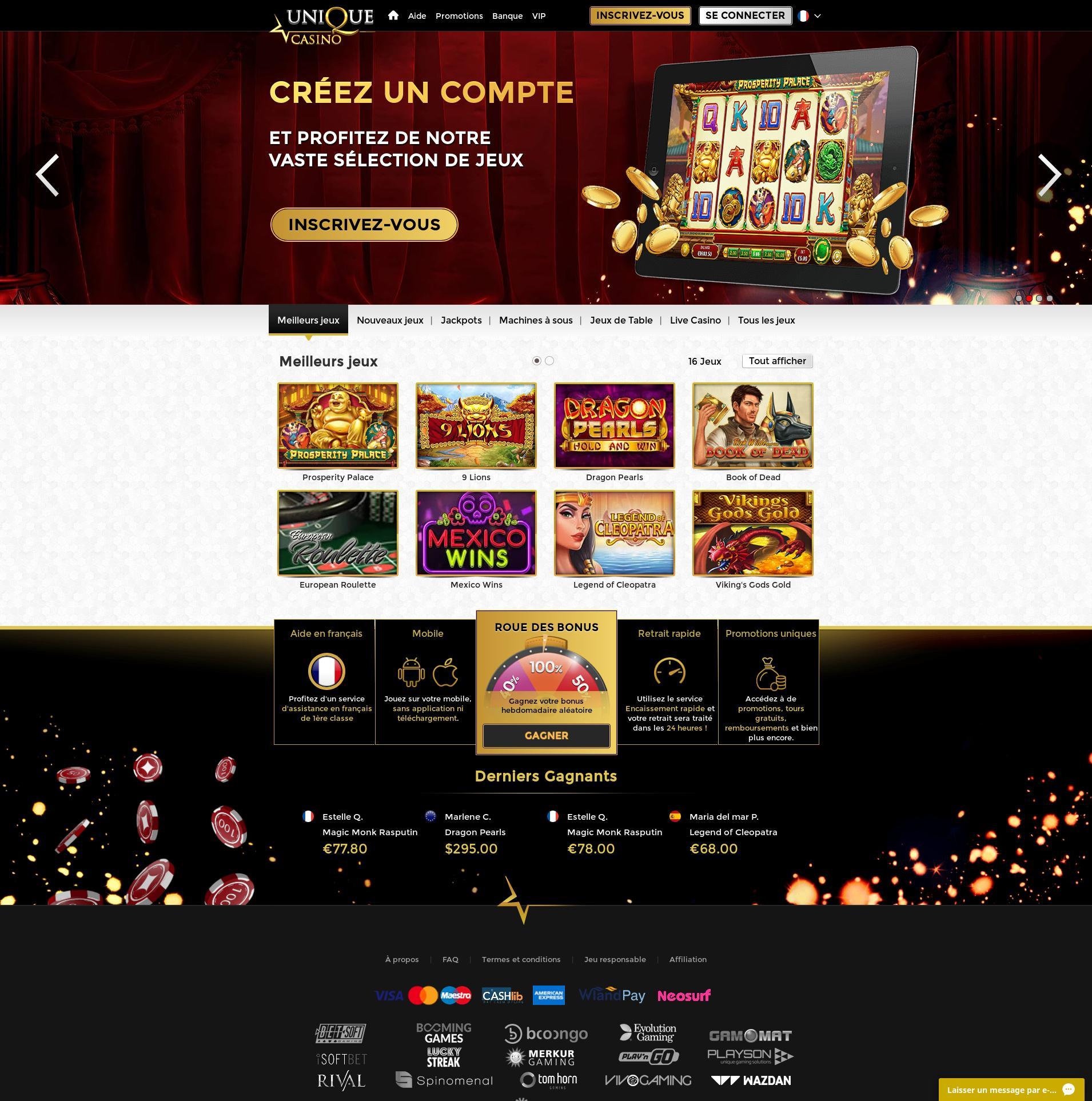 Casino skärm Lobby 2019-09-14 för frankrike