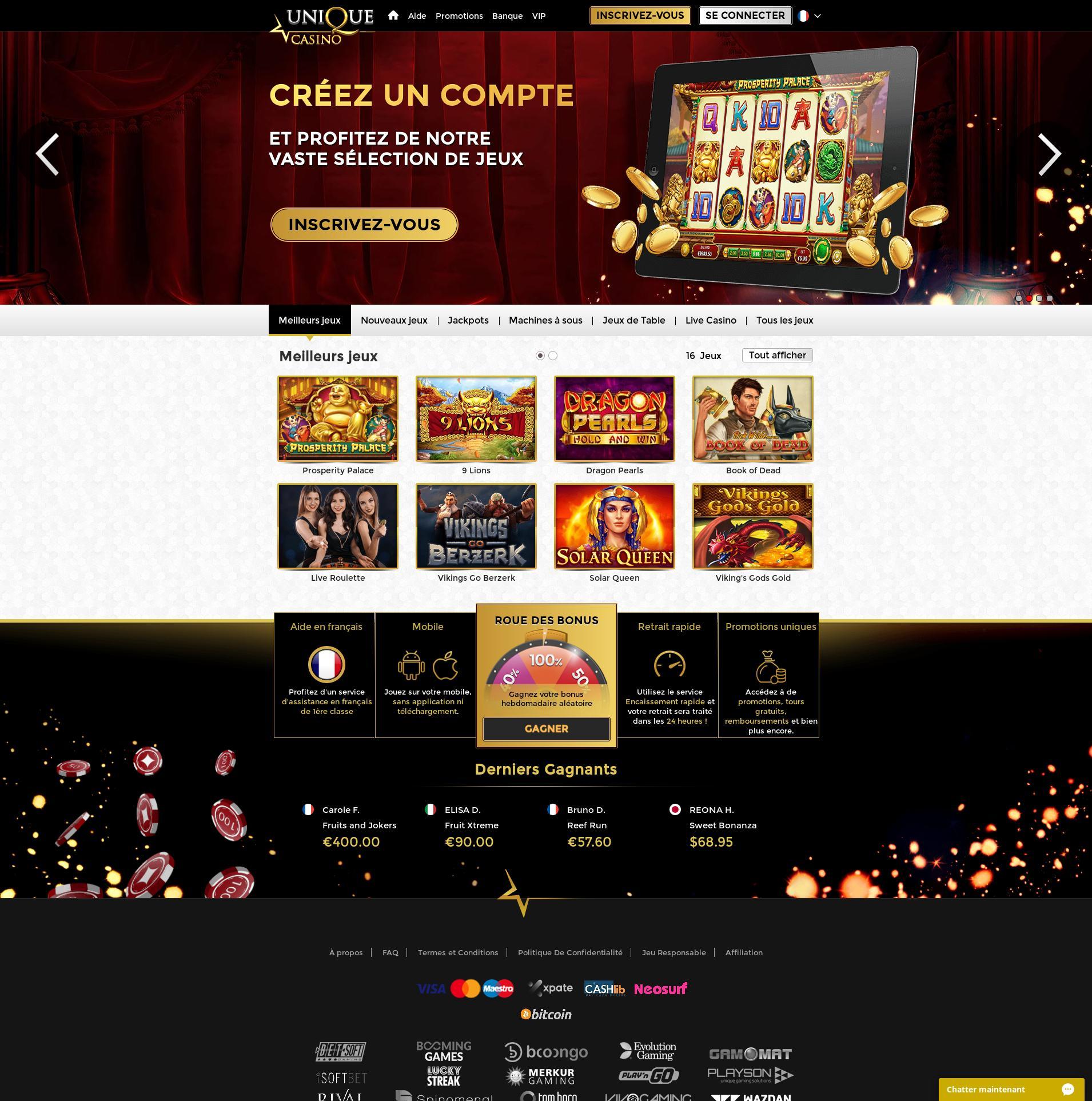 カジノのスクリーン Lobby 2020-01-26 ために フランス
