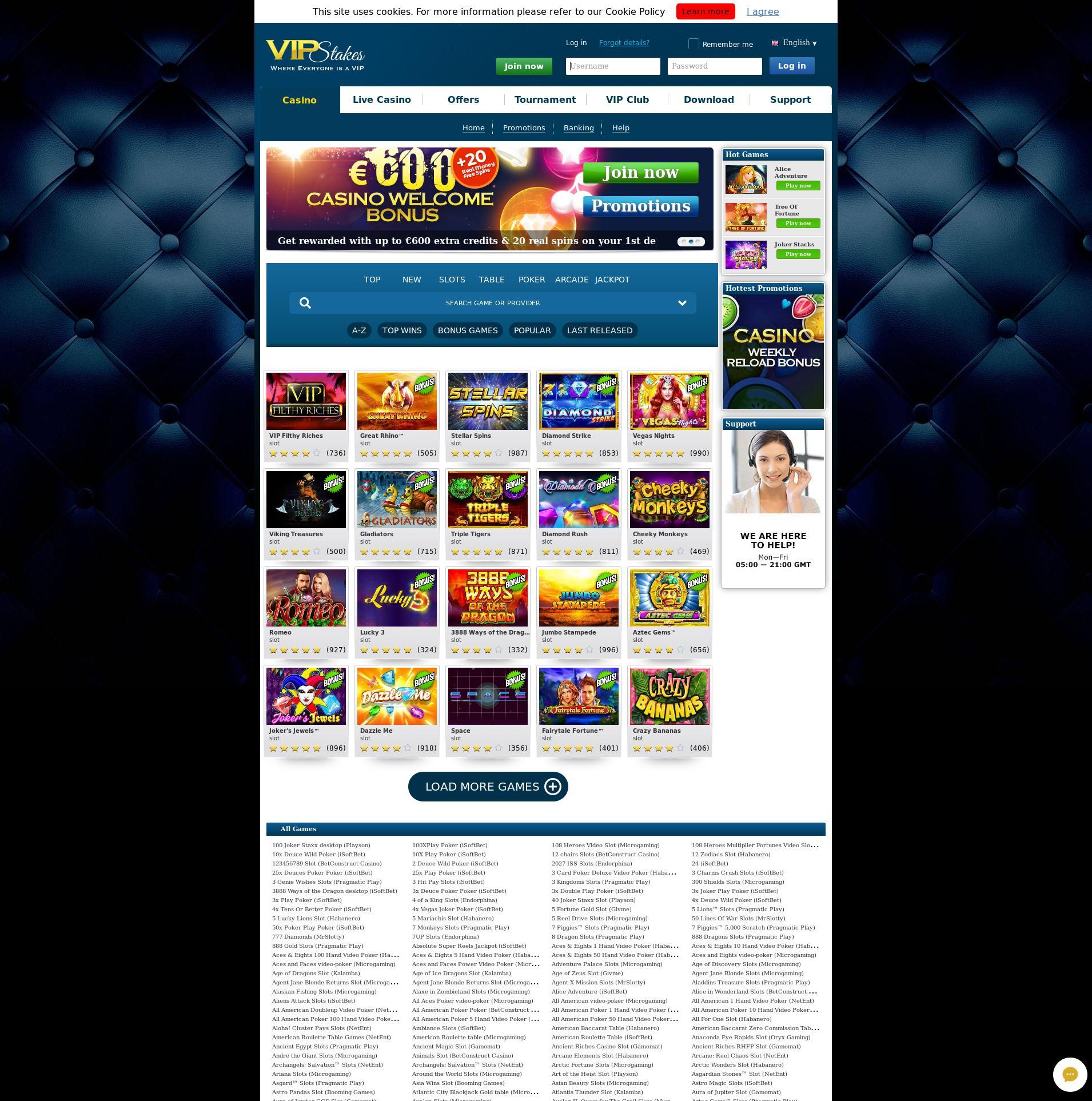 Casino Bildschirm Lobby 2019-08-18 zum Deutschland