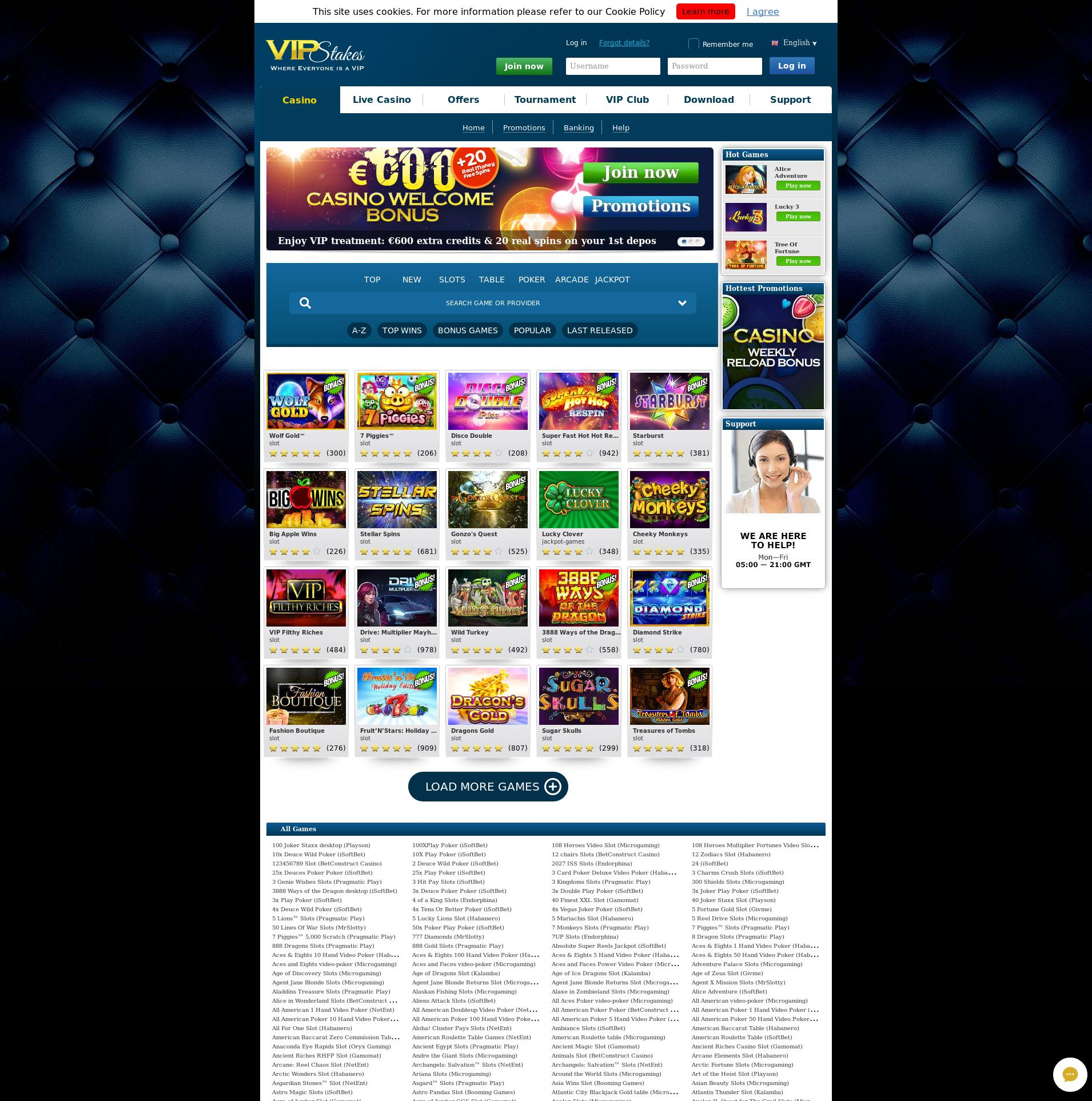Casino screen Lobby 2019-08-25 for Finland