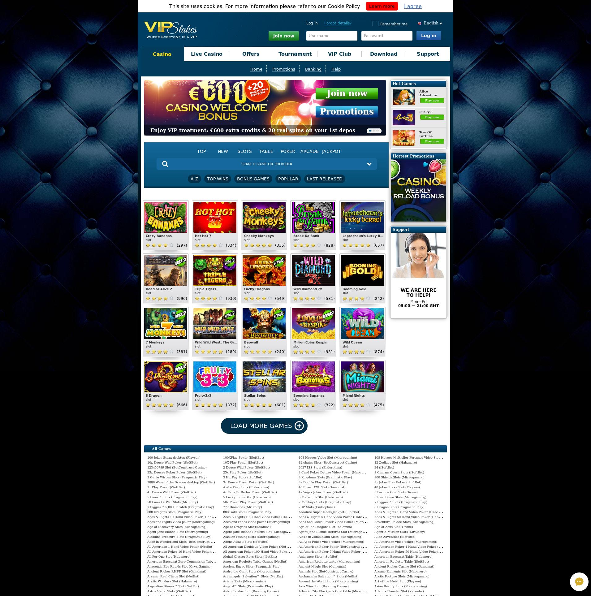 Casino screen Lobby 2019-08-25 for Norway