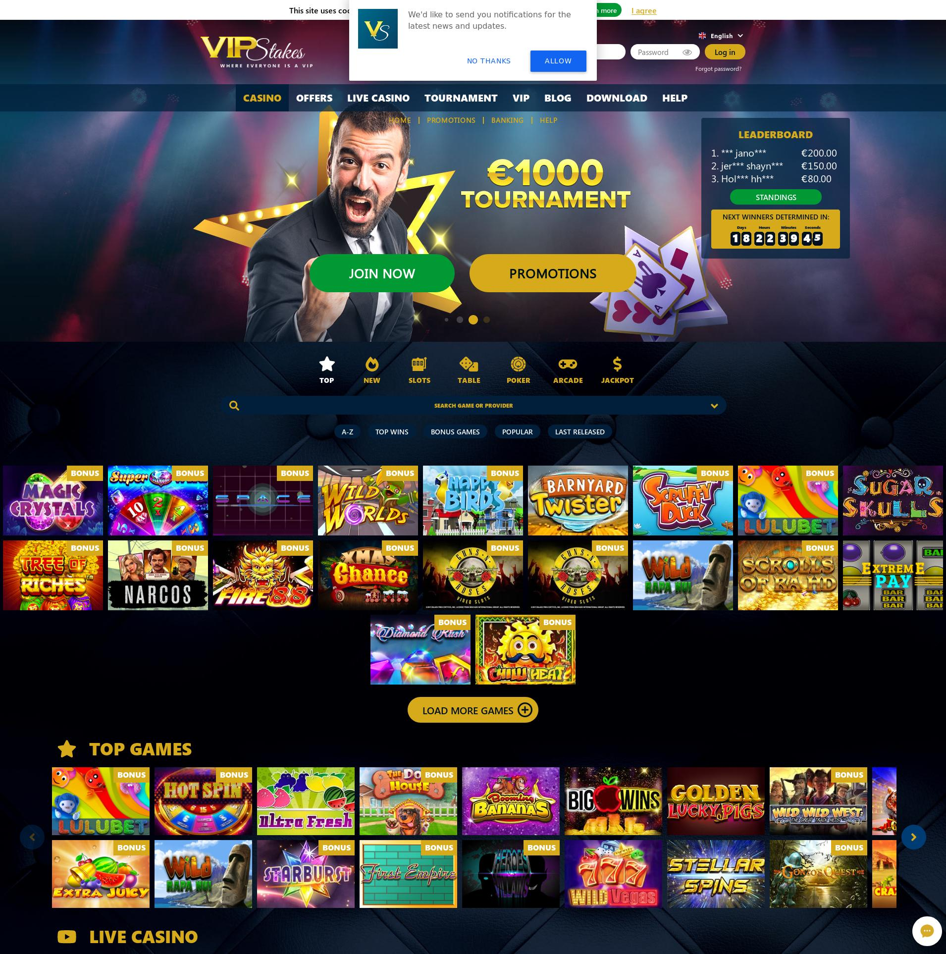 Casino-näyttö Lobby 2019-11-12 varten Suomi