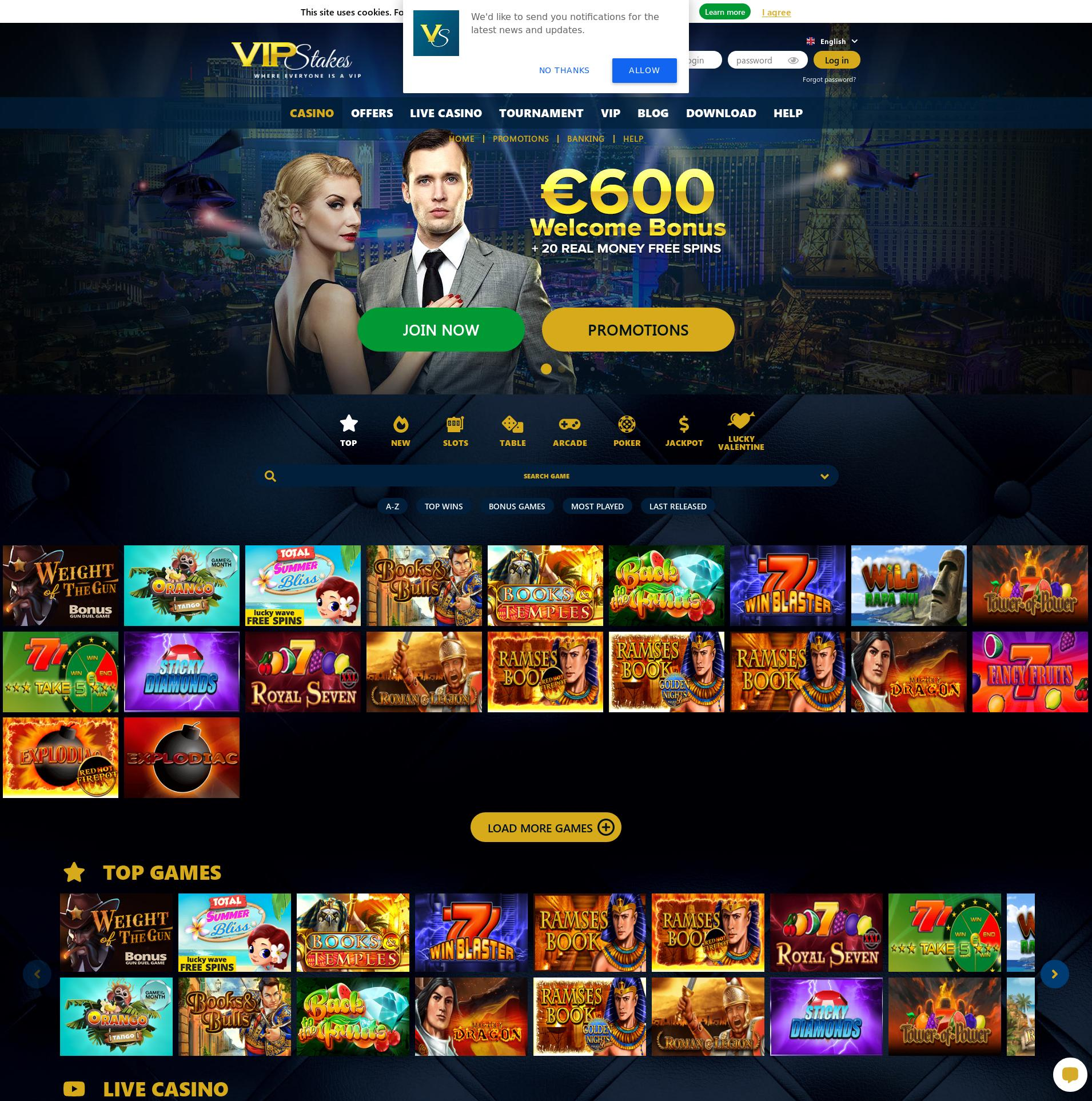 Casino screen Lobby 2020-02-15 for Norway