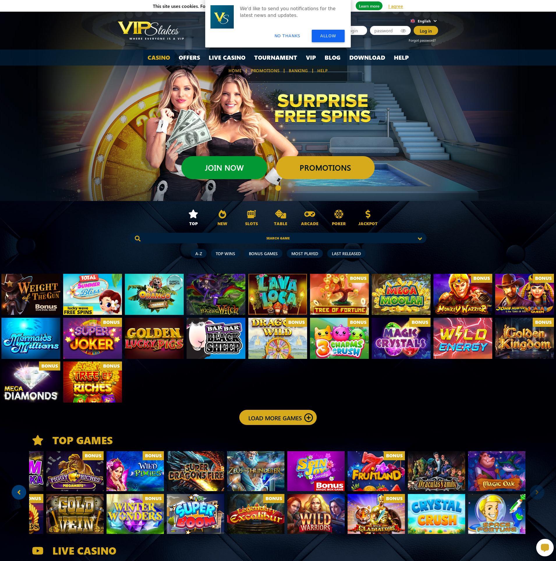 Casino screen Lobby 2020-02-25 for Canada