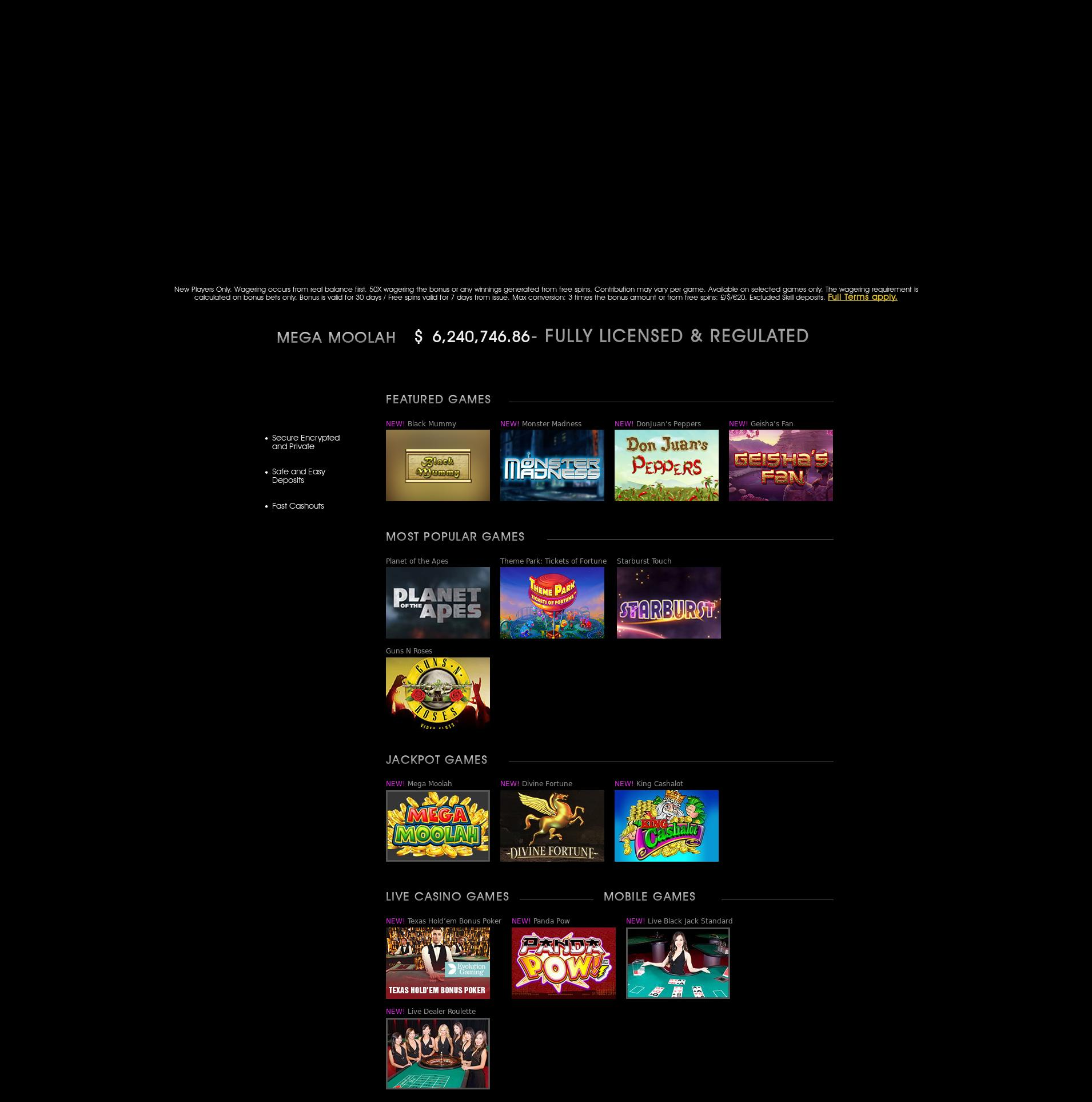 Casino screen Lobby 2019-10-17 for United Kingdom
