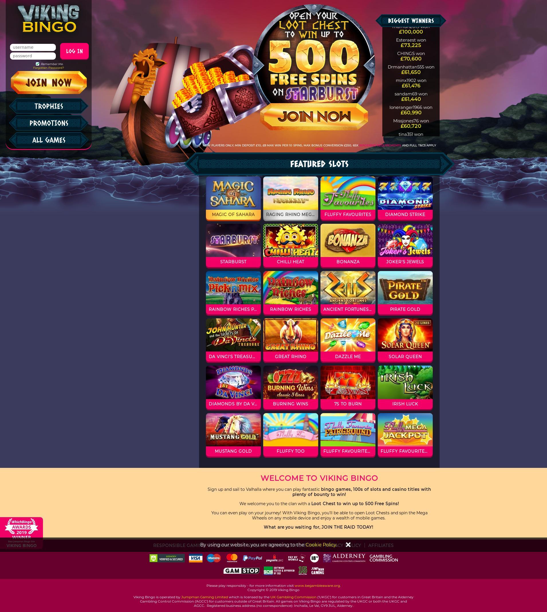 Casino screen Lobby 2019-07-21 for United Kingdom