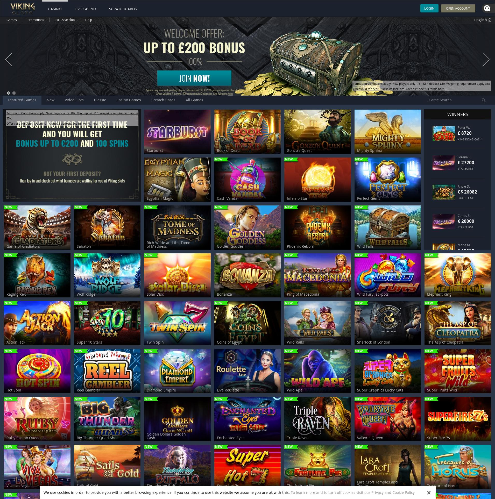 Casino screen Lobby 2019-07-17 for United Kingdom