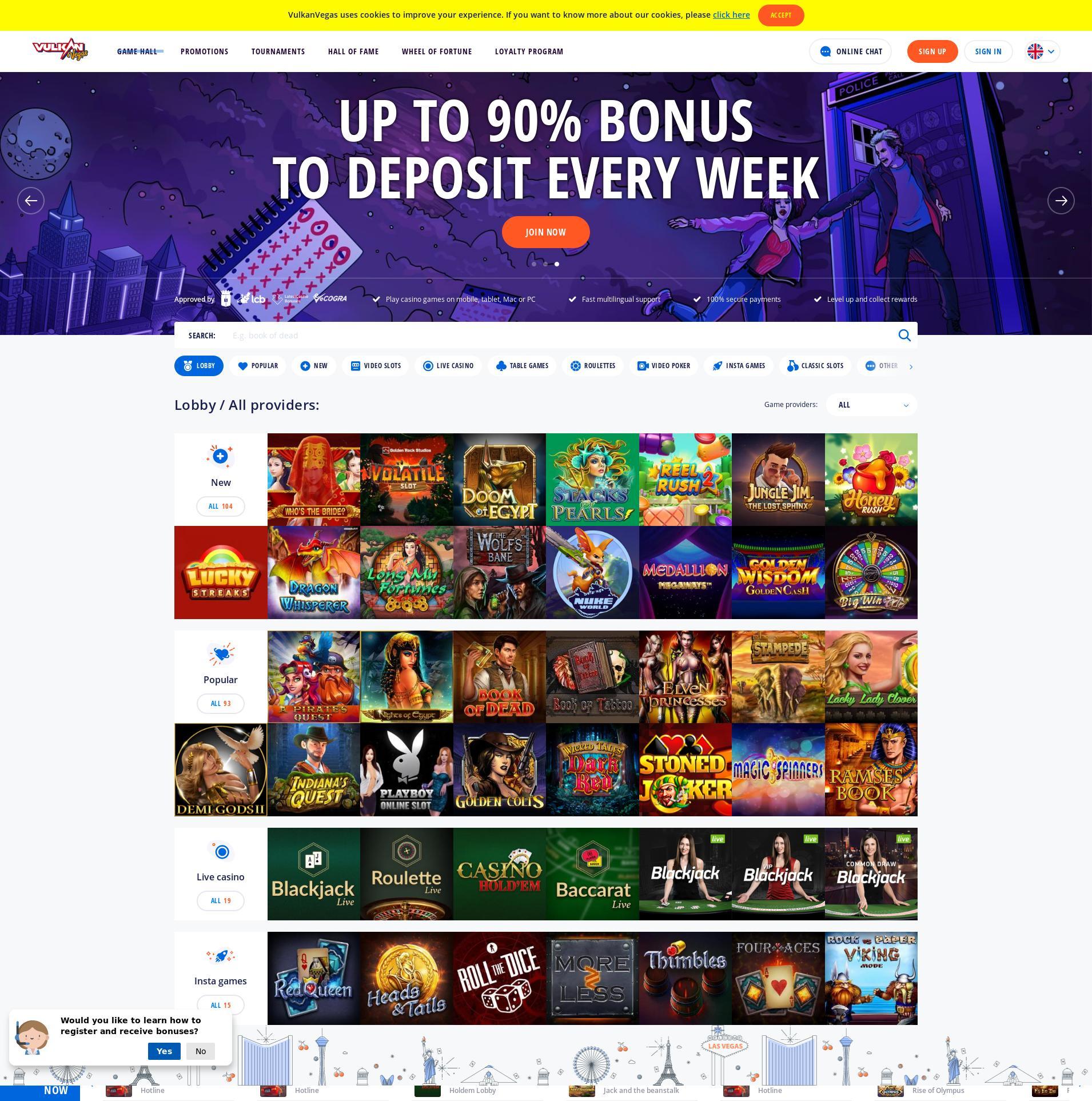 赌场的屏幕 Lobby 2019-11-13 对于 中国