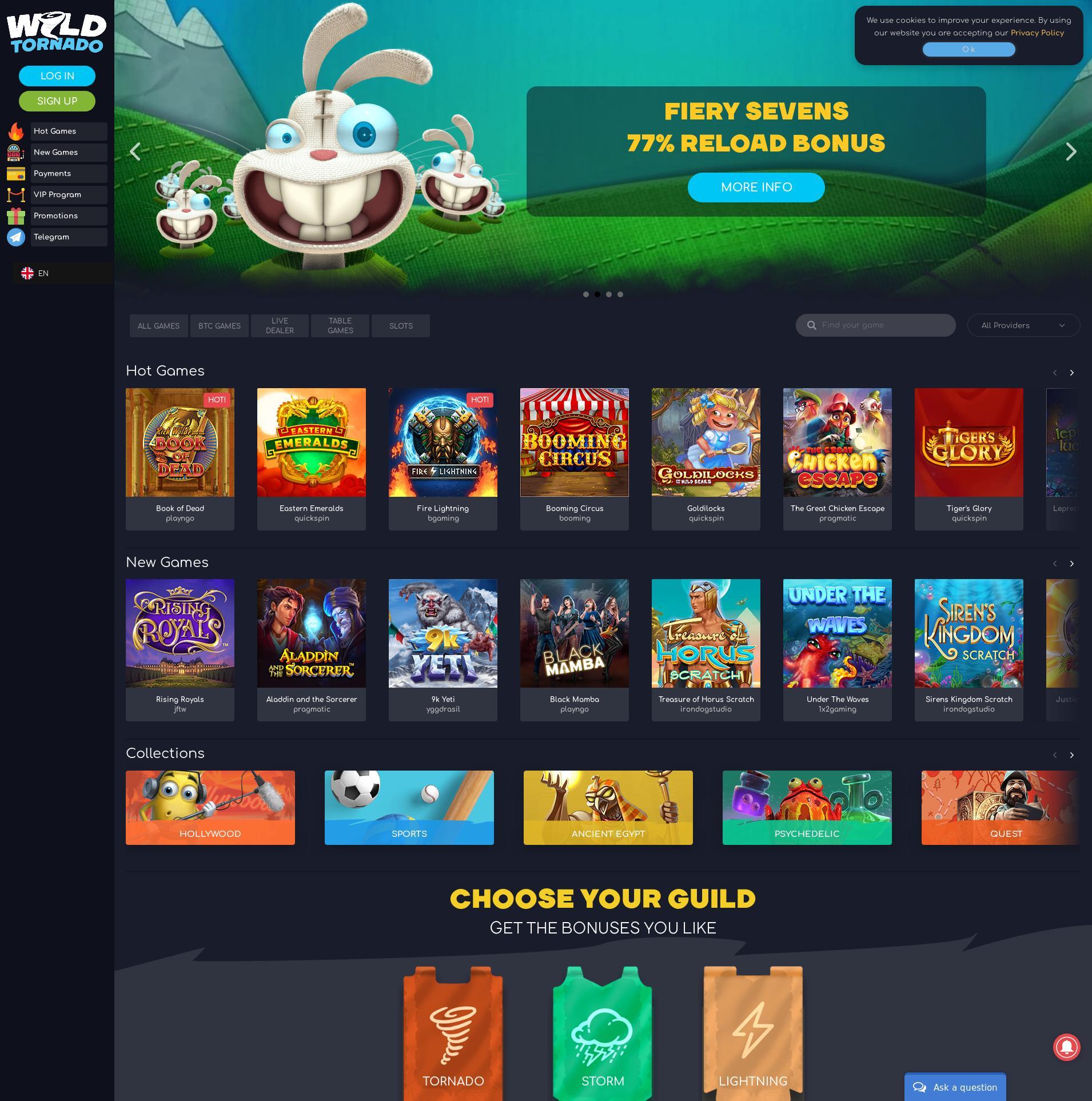Casino screen Lobby 2019-11-18 for Norway