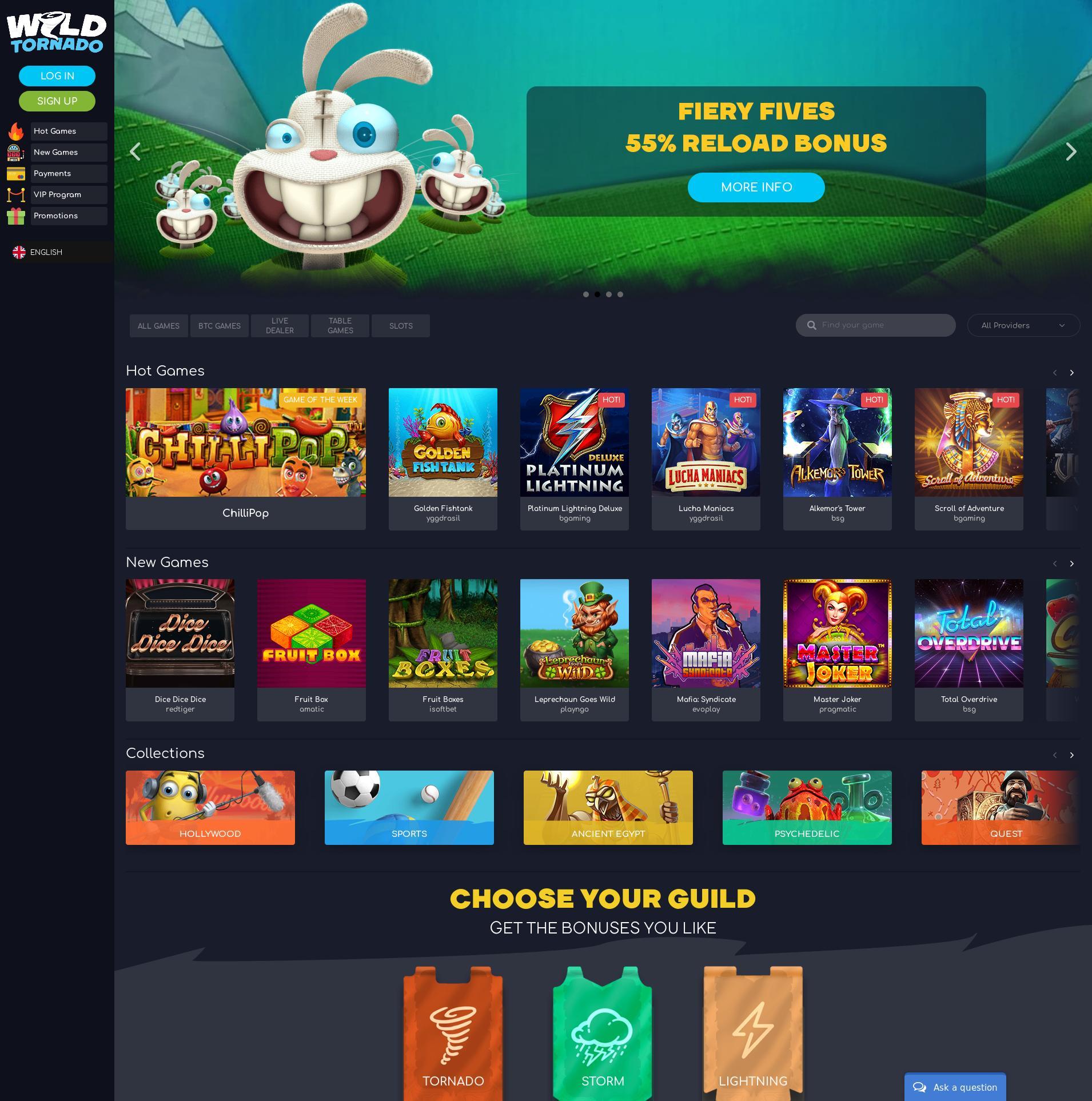 Casino screen Lobby 2020-02-19 for Norway