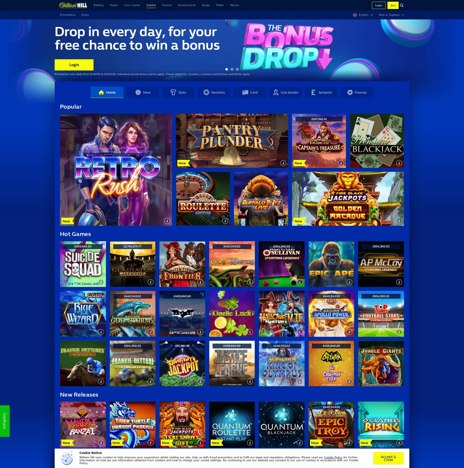 Casino screen Lobby 2020-04-01 for United Kingdom