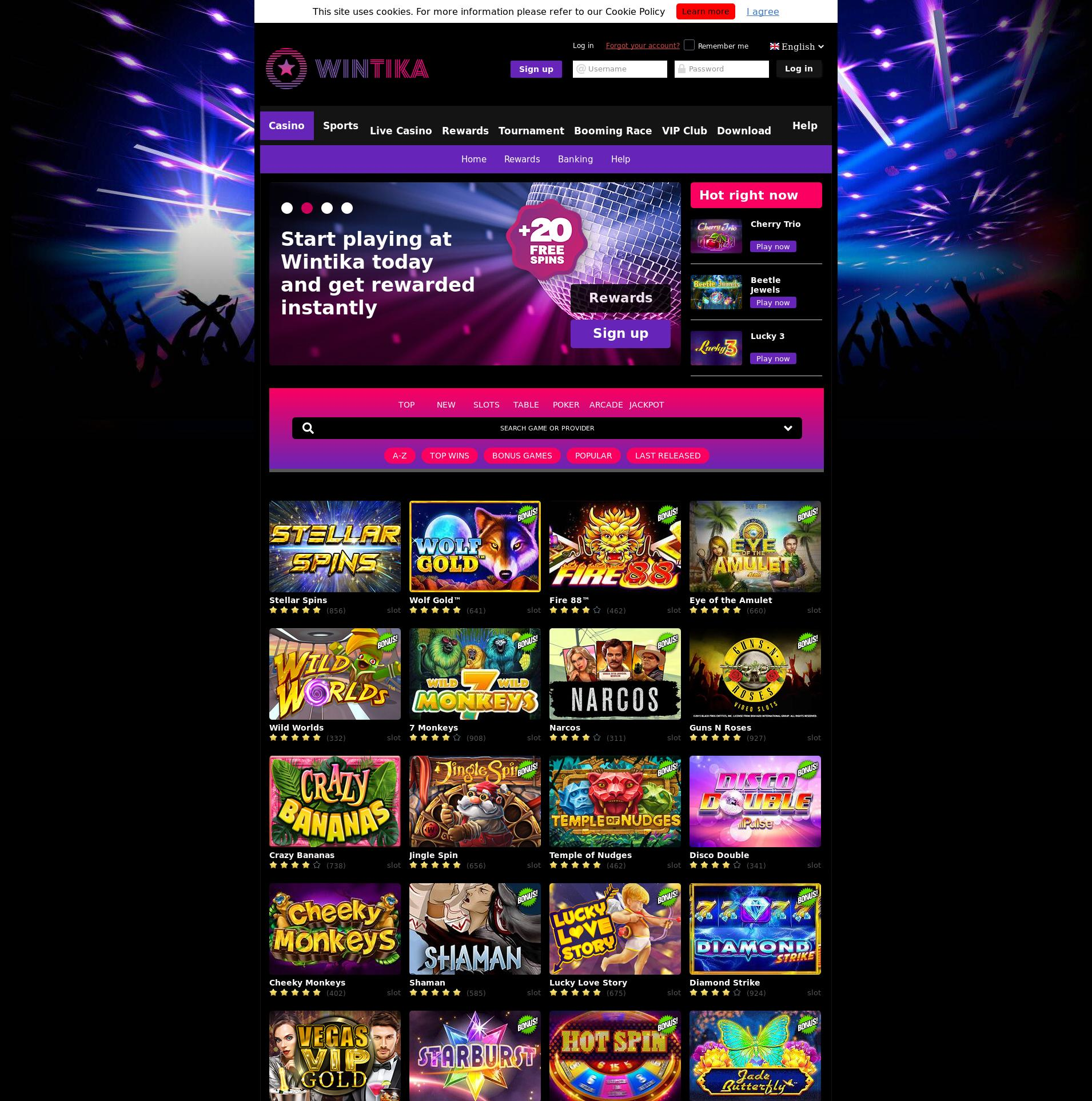 Casino skärm Lobby 2019-07-17 för finland