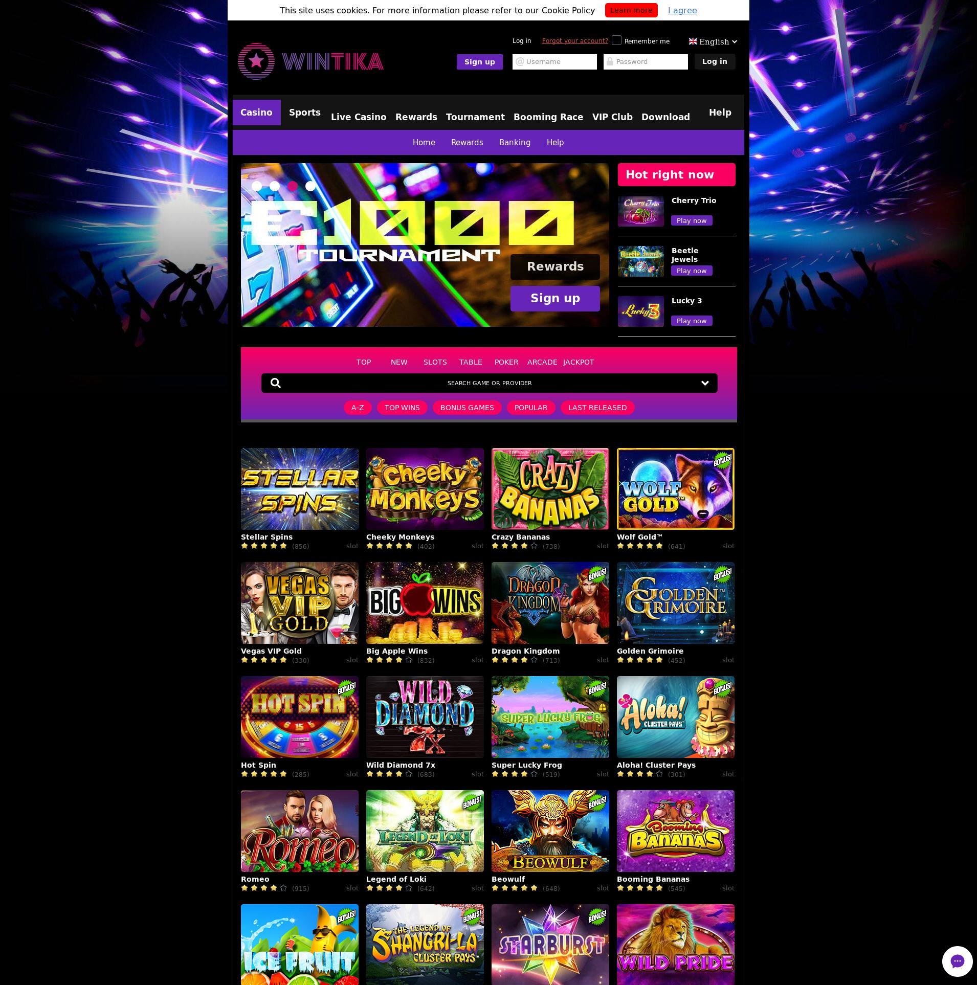 Casino skärm Lobby 2019-07-17 för Tyskland