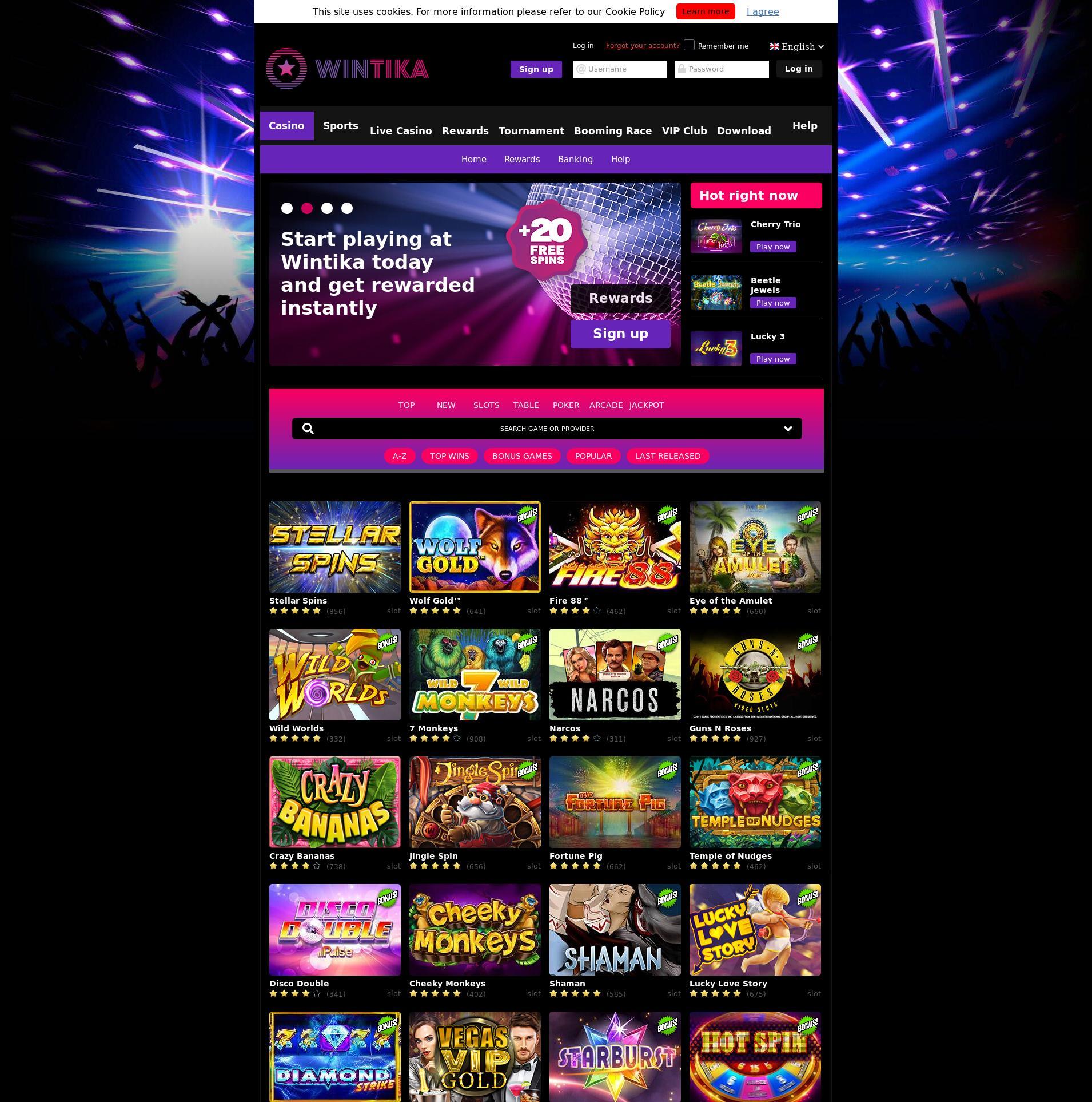 Casino-näyttö Lobby 2019-07-21 varten Suomi