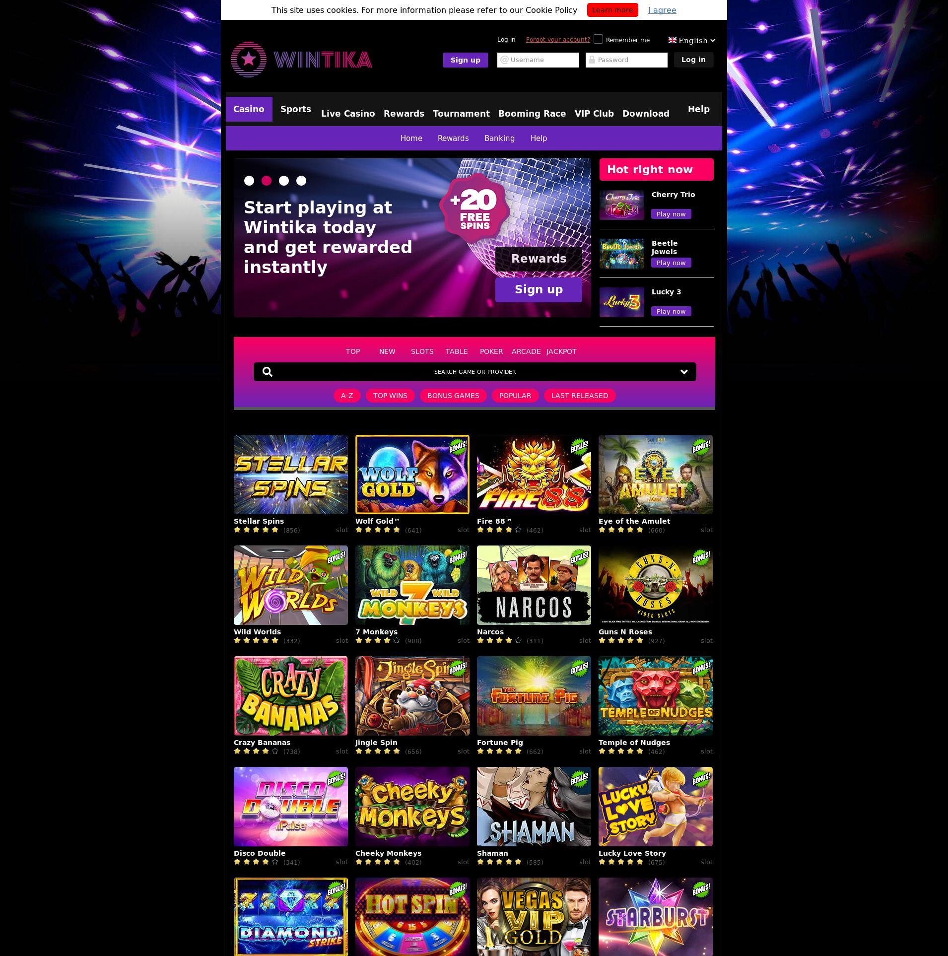Casino screen Lobby 2019-07-22 for Finland