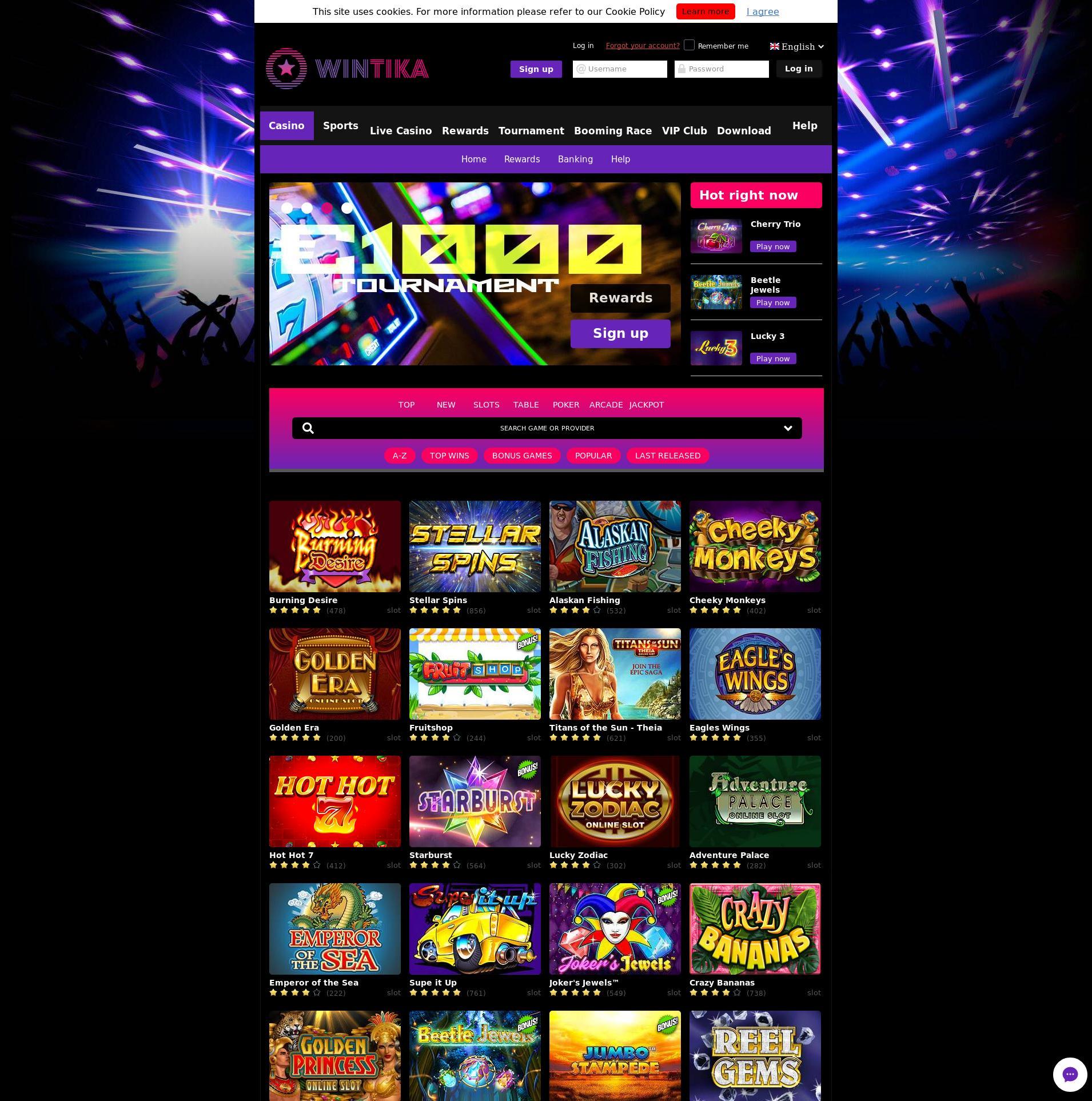Casino skärm Lobby 2019-07-22 för Danmark