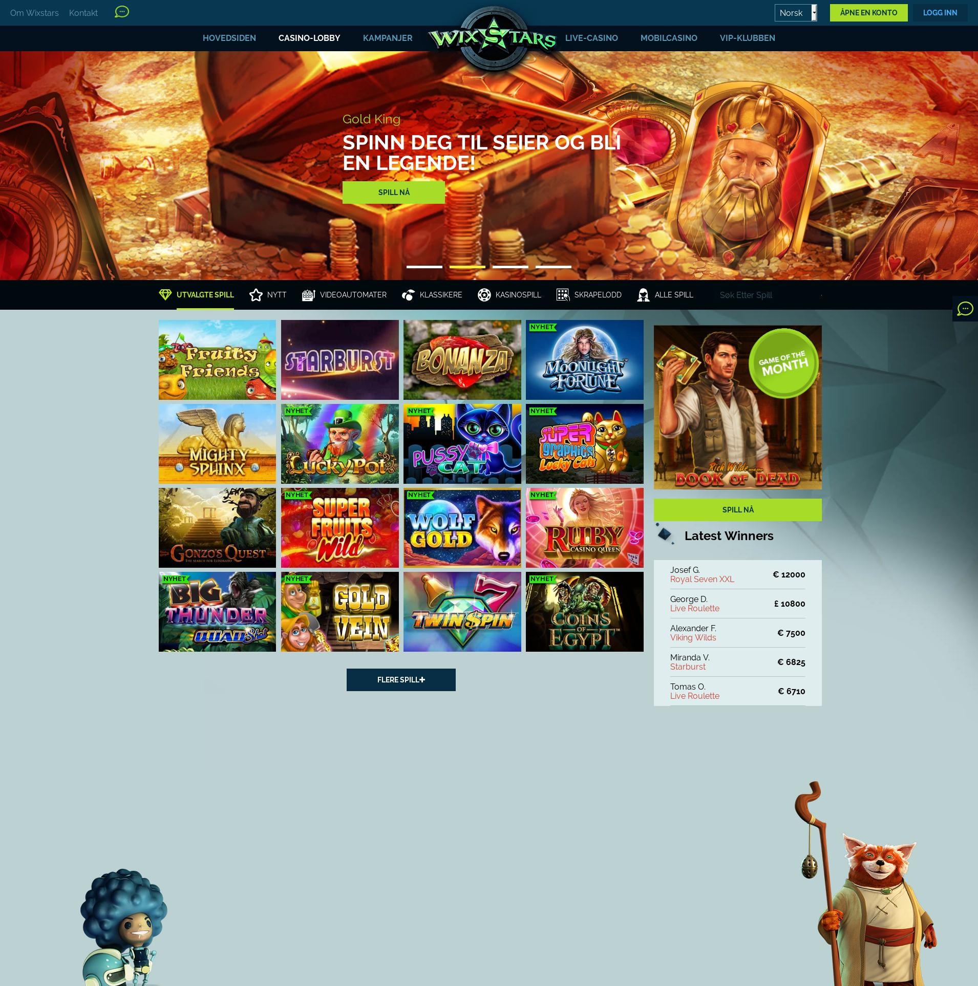 Casino screen Lobby 2019-06-24 for Norway