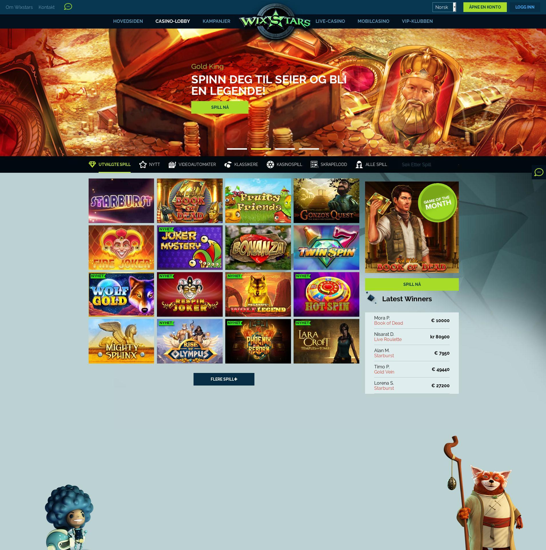 Casino skærm Lobby 2019-07-17 til Danmark