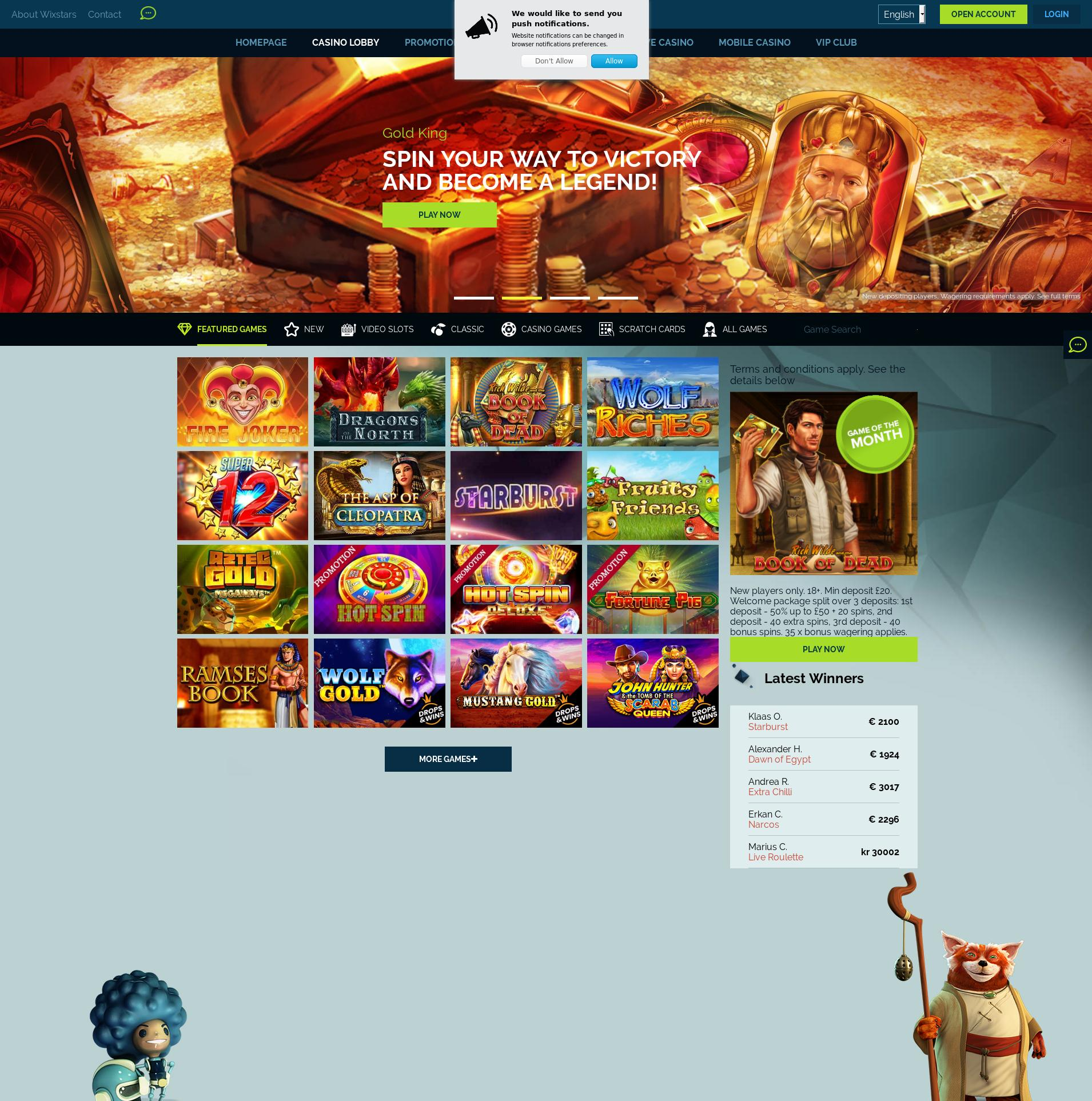 Casino scherm Lobby 2020-04-03 voor Nederland