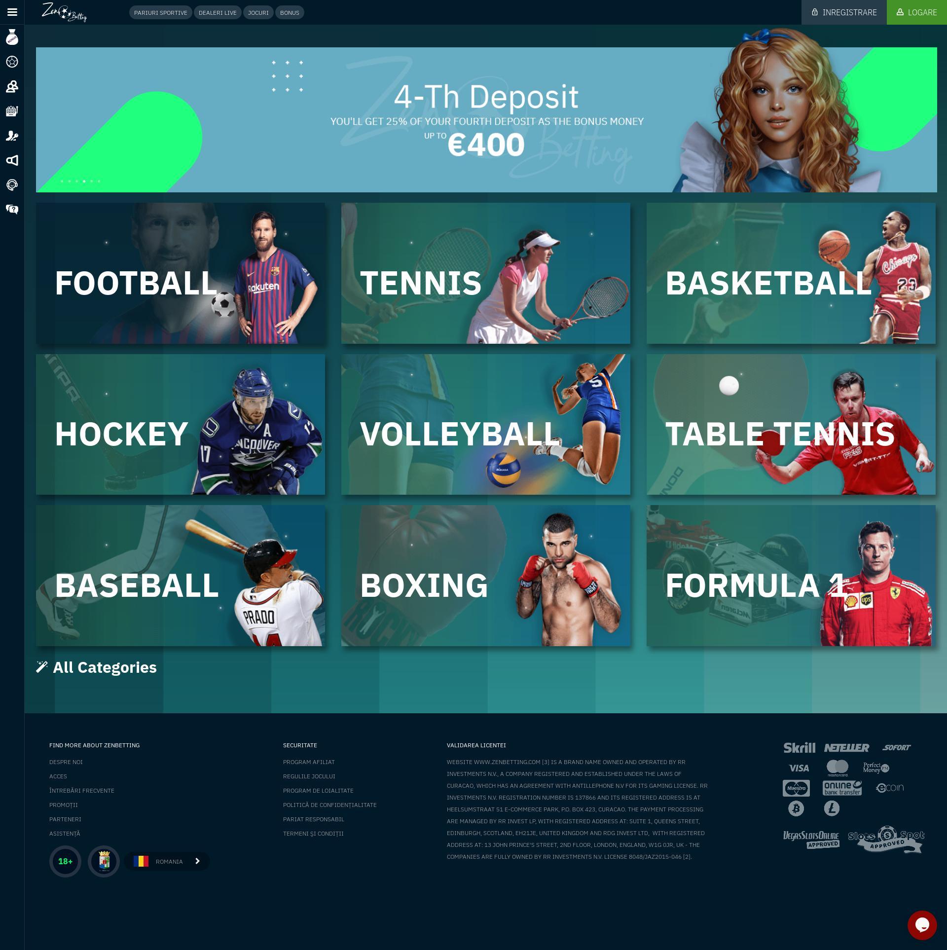 Casino screen Lobby 2019-07-15 pentru România