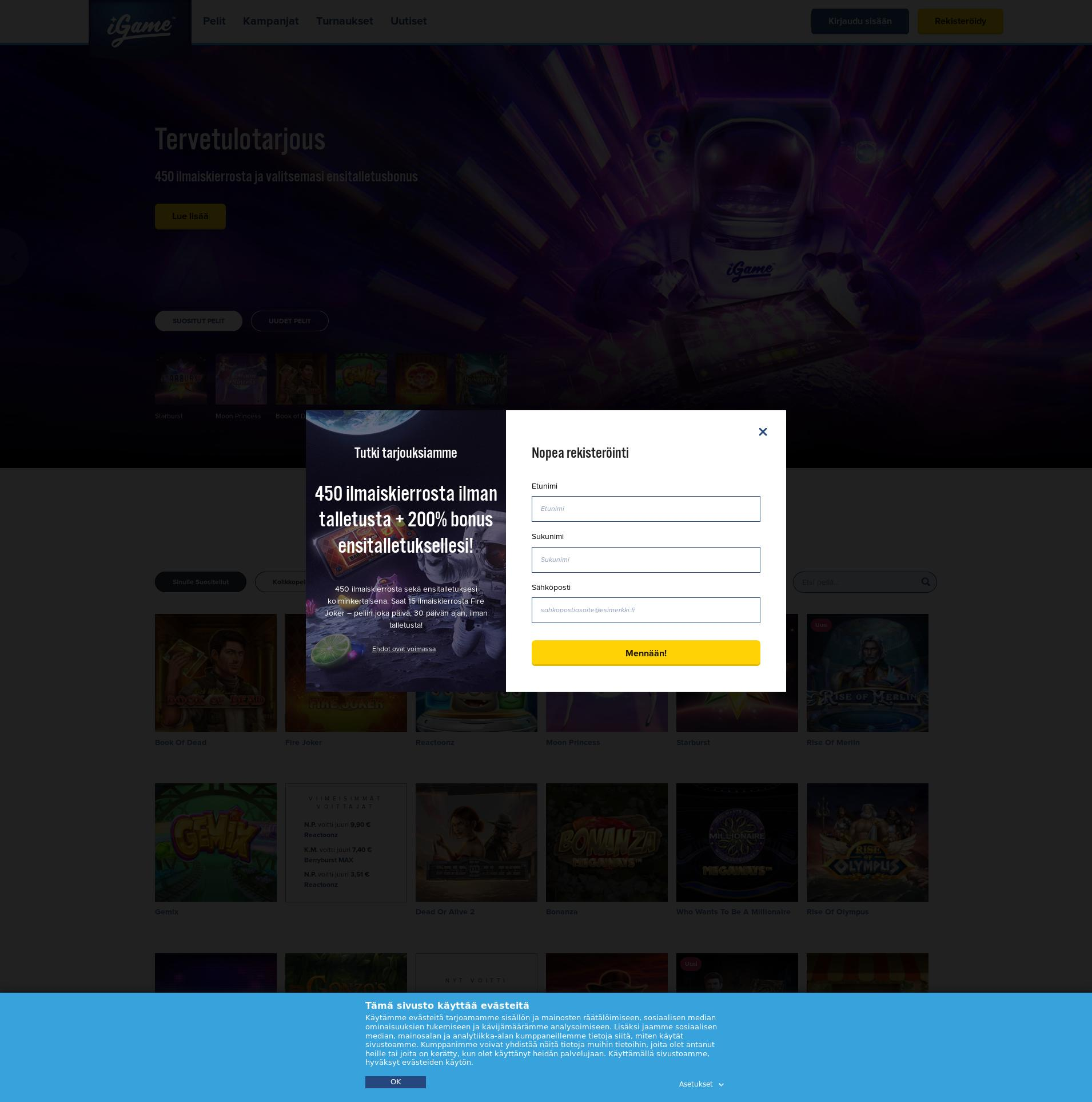 Casino-näyttö Lobby 2019-08-20 varten Suomi
