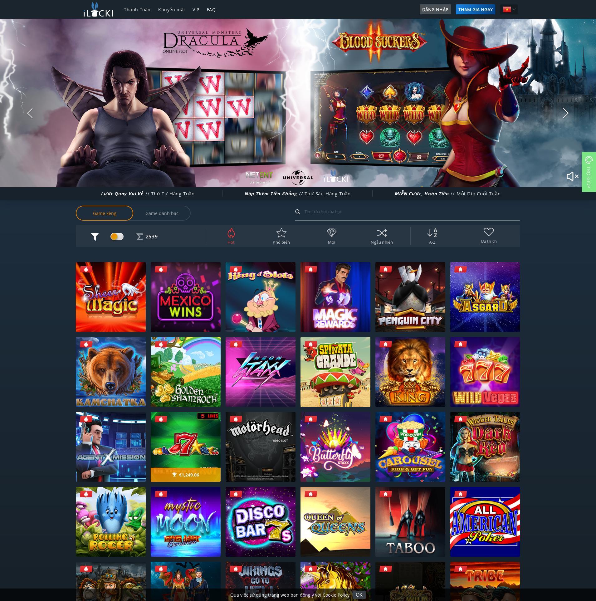 Màn hình Casino Lobby 2019-09-21 cho Việt Nam